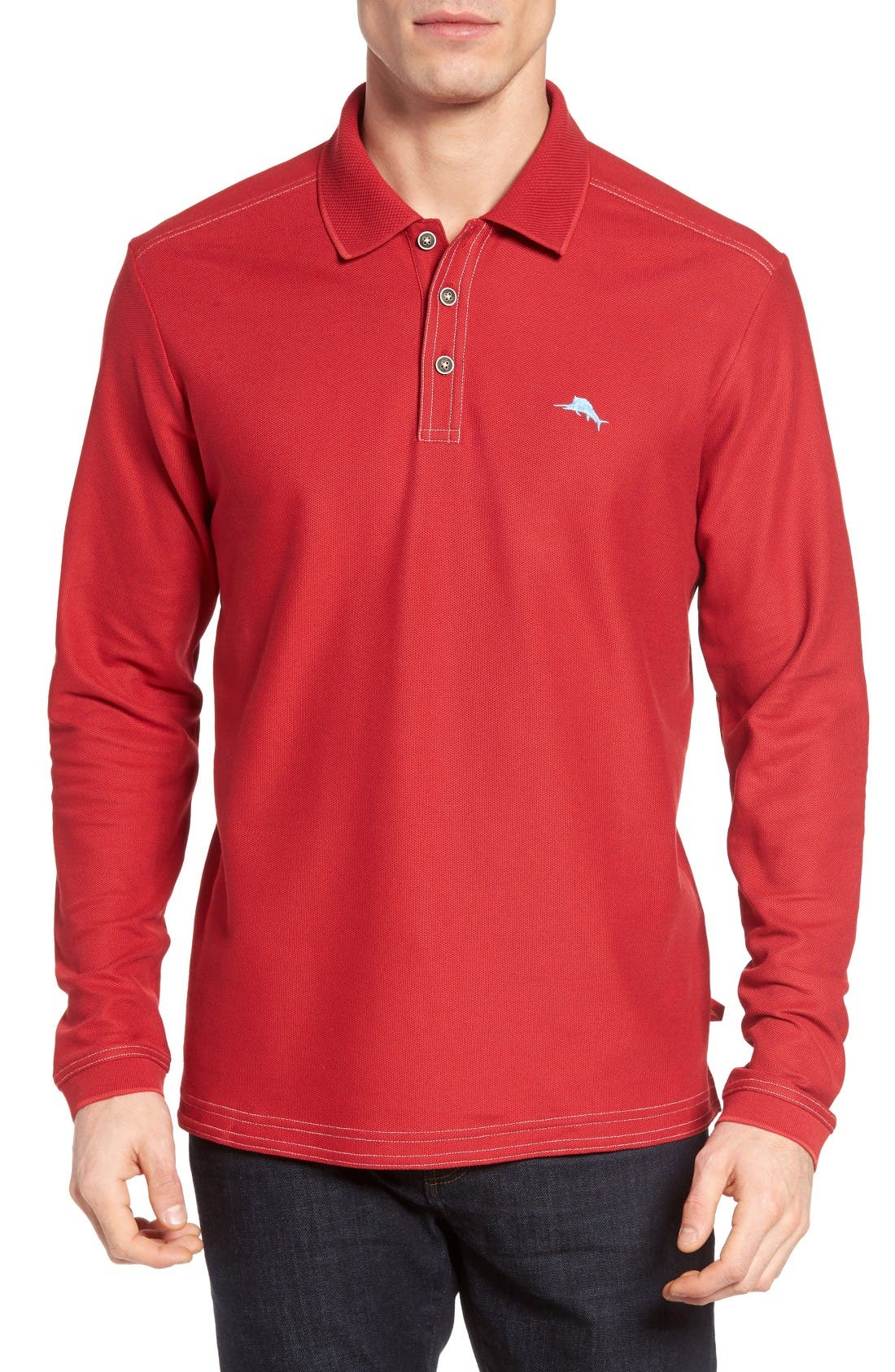 TOMMY BAHAMA Emfielder Long Sleeve Polo