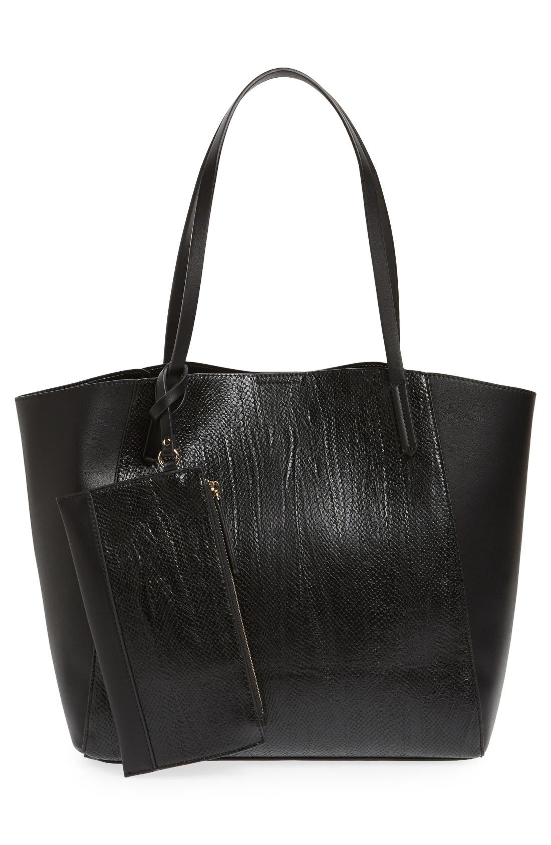 Alternate Image 3  - BP. Colorblock Faux Leather Tote
