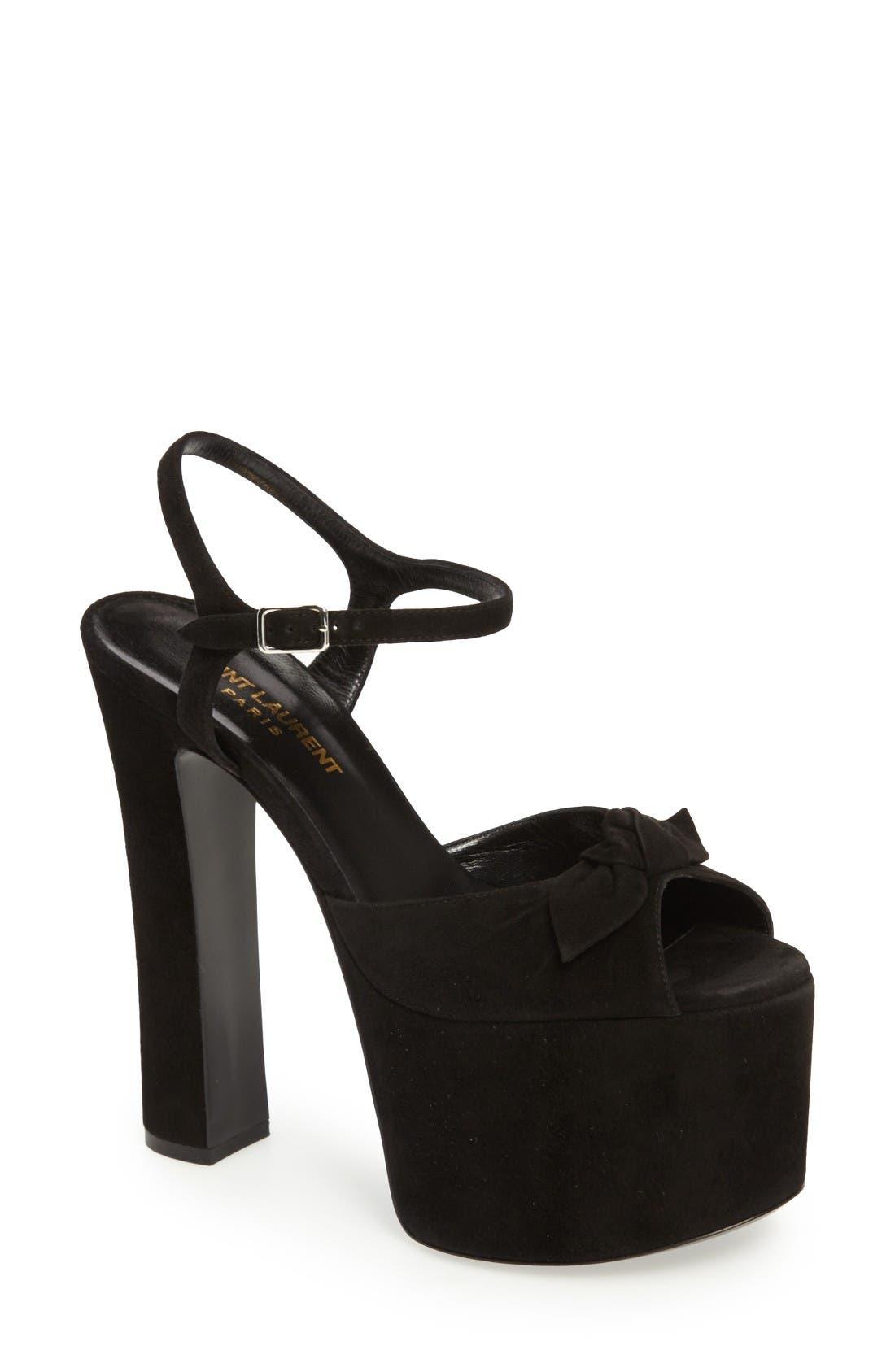 Alternate Image 1 Selected - Saint Laurent Betty Platform Sandal (Women)