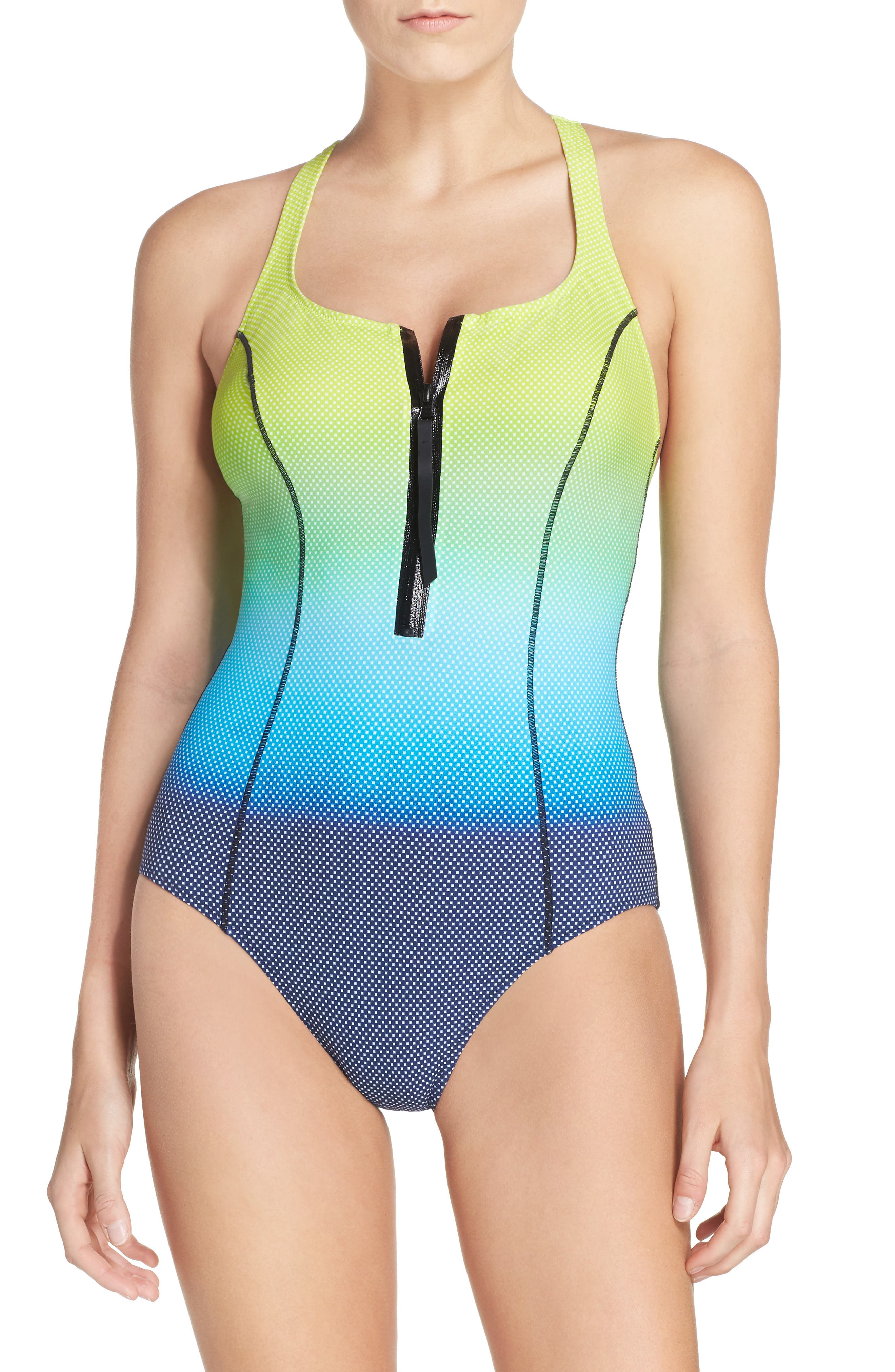 Alternate Image 1 Selected - Profile by Gottex One-Piece Zip Swimsuit