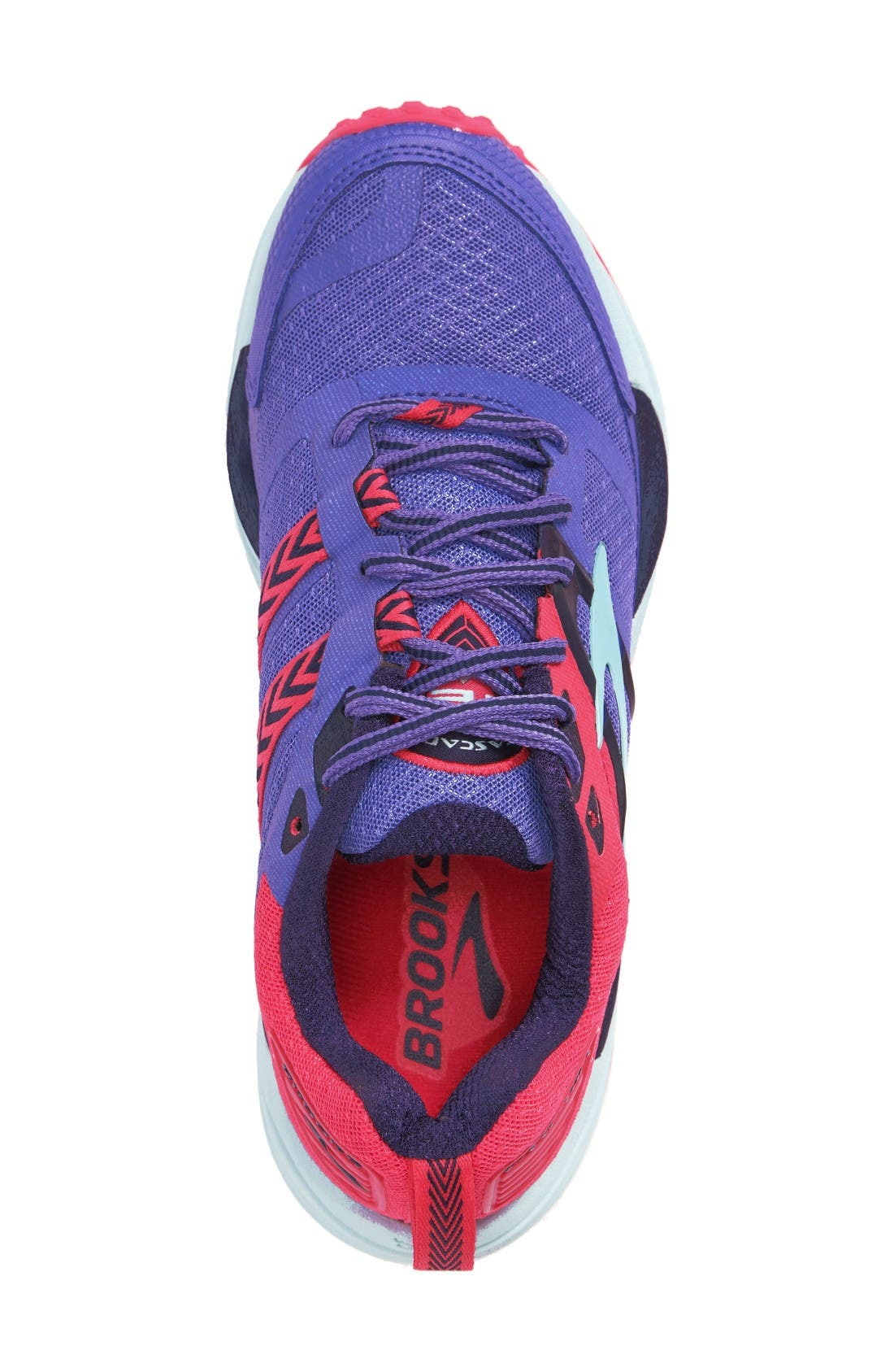 Cascadia 12 Trail Running Shoe,                             Alternate thumbnail 3, color,                             Baja Blue/ Pink/ Clearwater