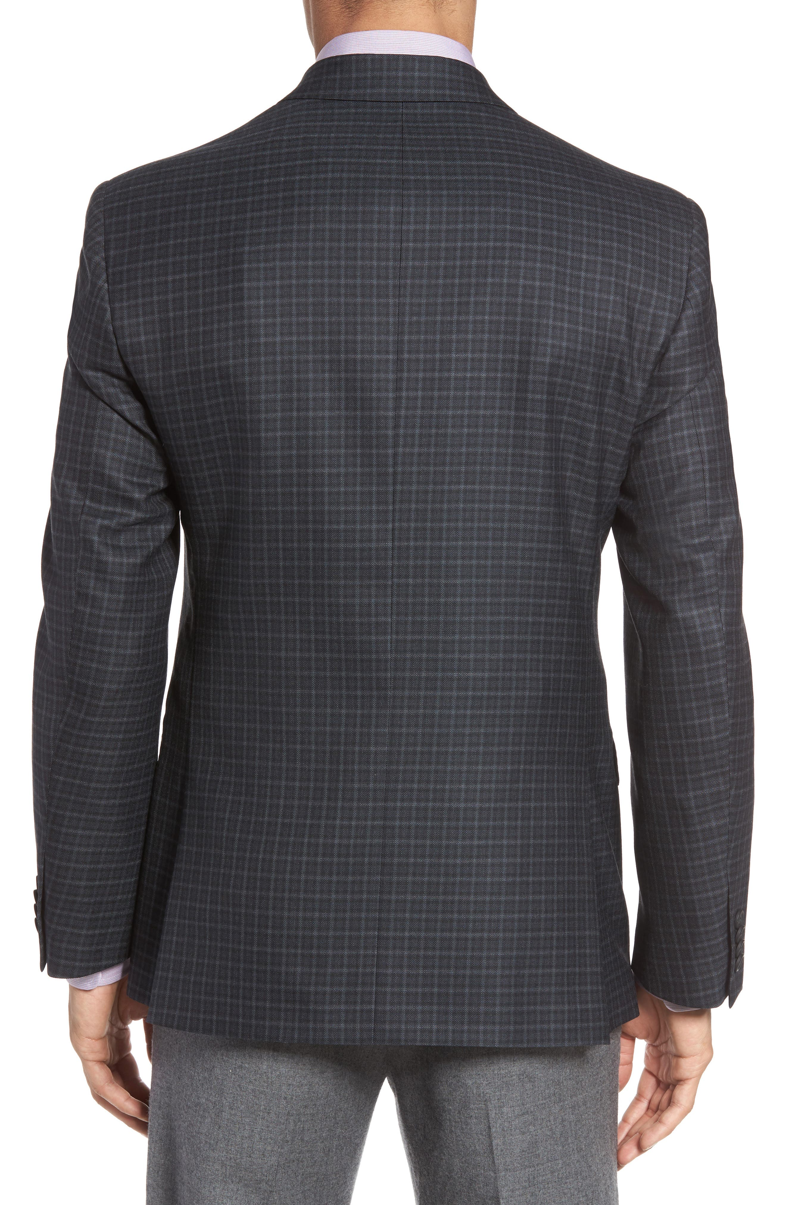 Alternate Image 2  - JB Britches Classic Fit Check Wool Sport Coat