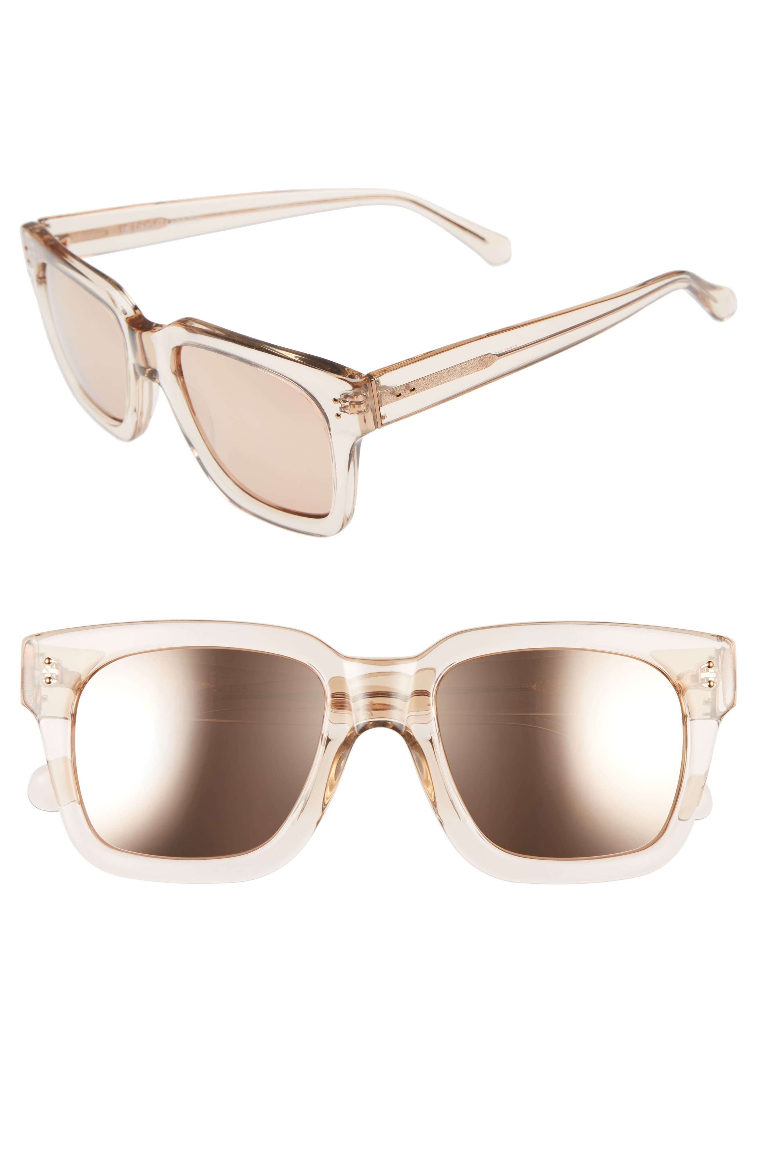 50mm Sunglasses,                         Main,                         color, Ash/ Rose Gold