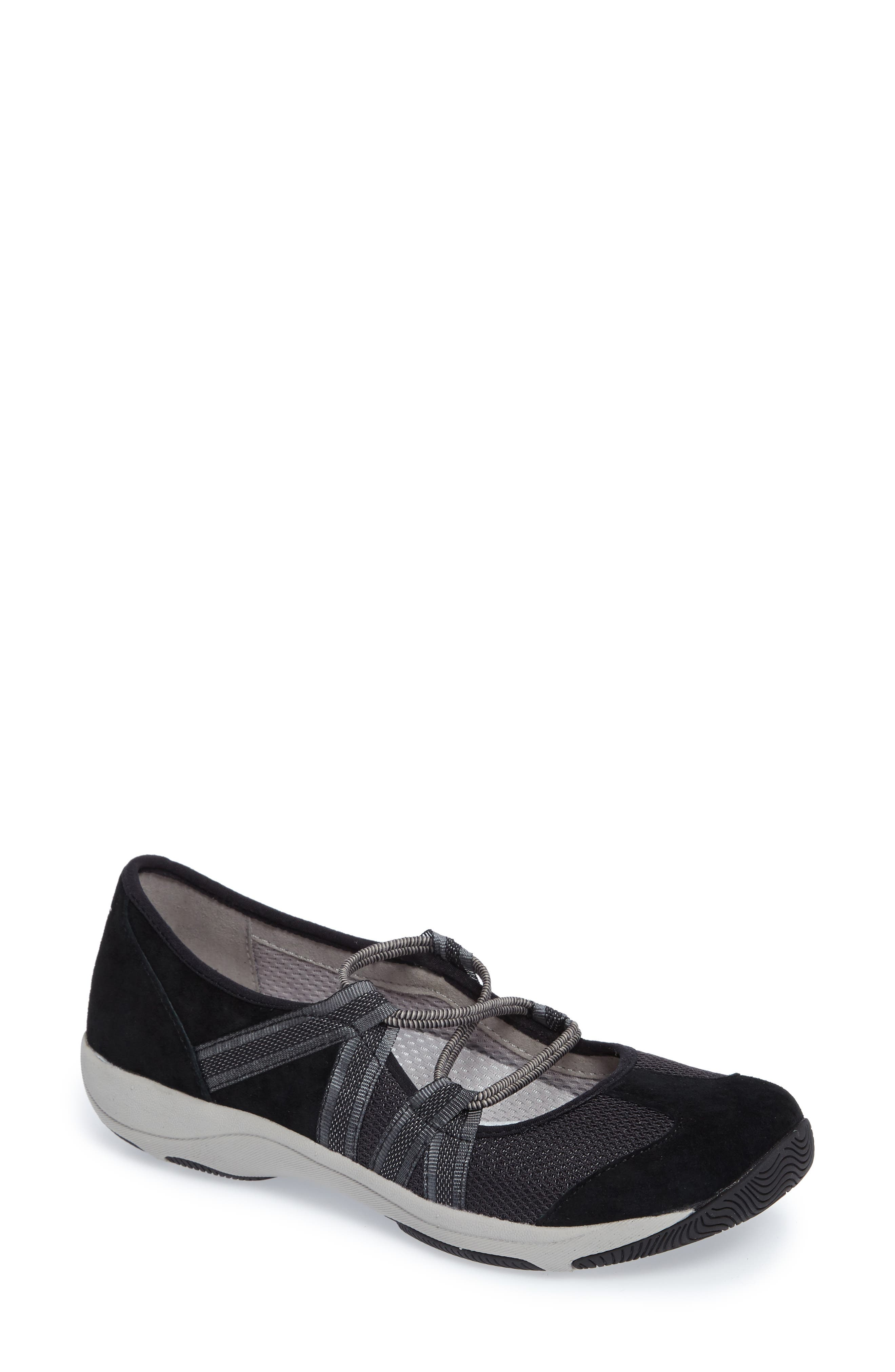 Honey Slip-On Sneaker,                             Main thumbnail 1, color,                             Black Suede