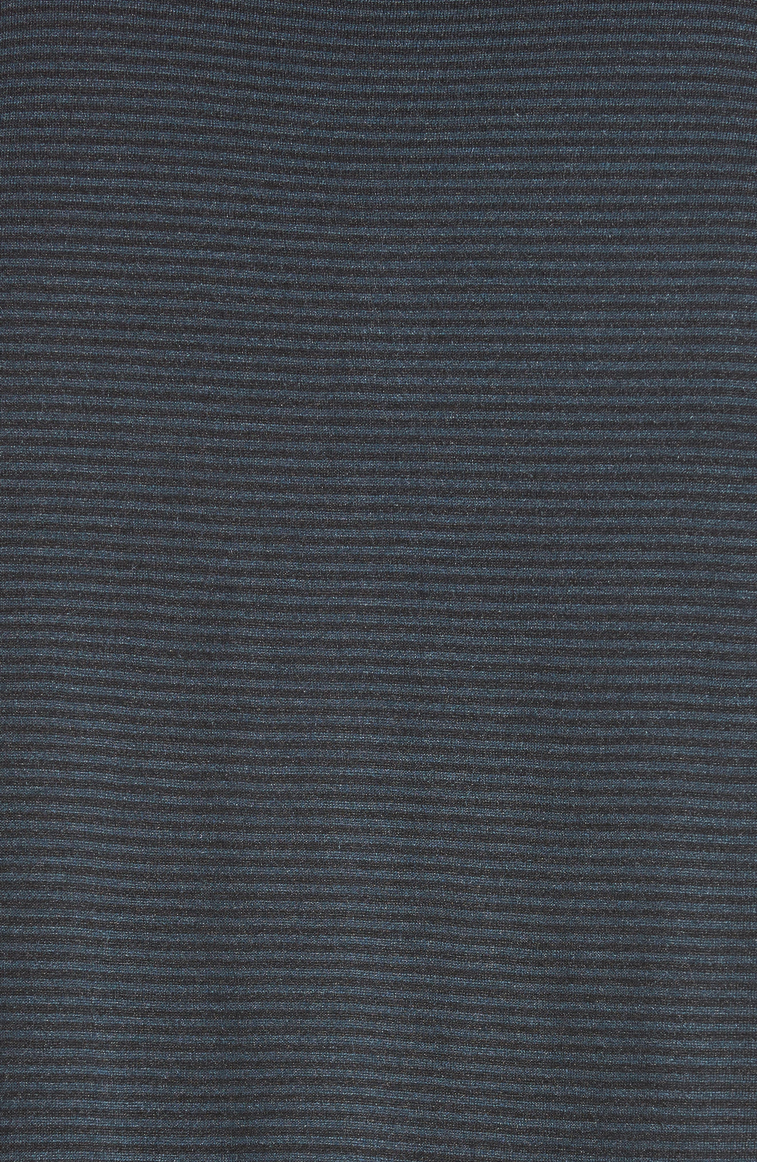 Alternate Image 5  - John Varvatos Collection 'Hampton' Stripe Silk & Cotton Polo