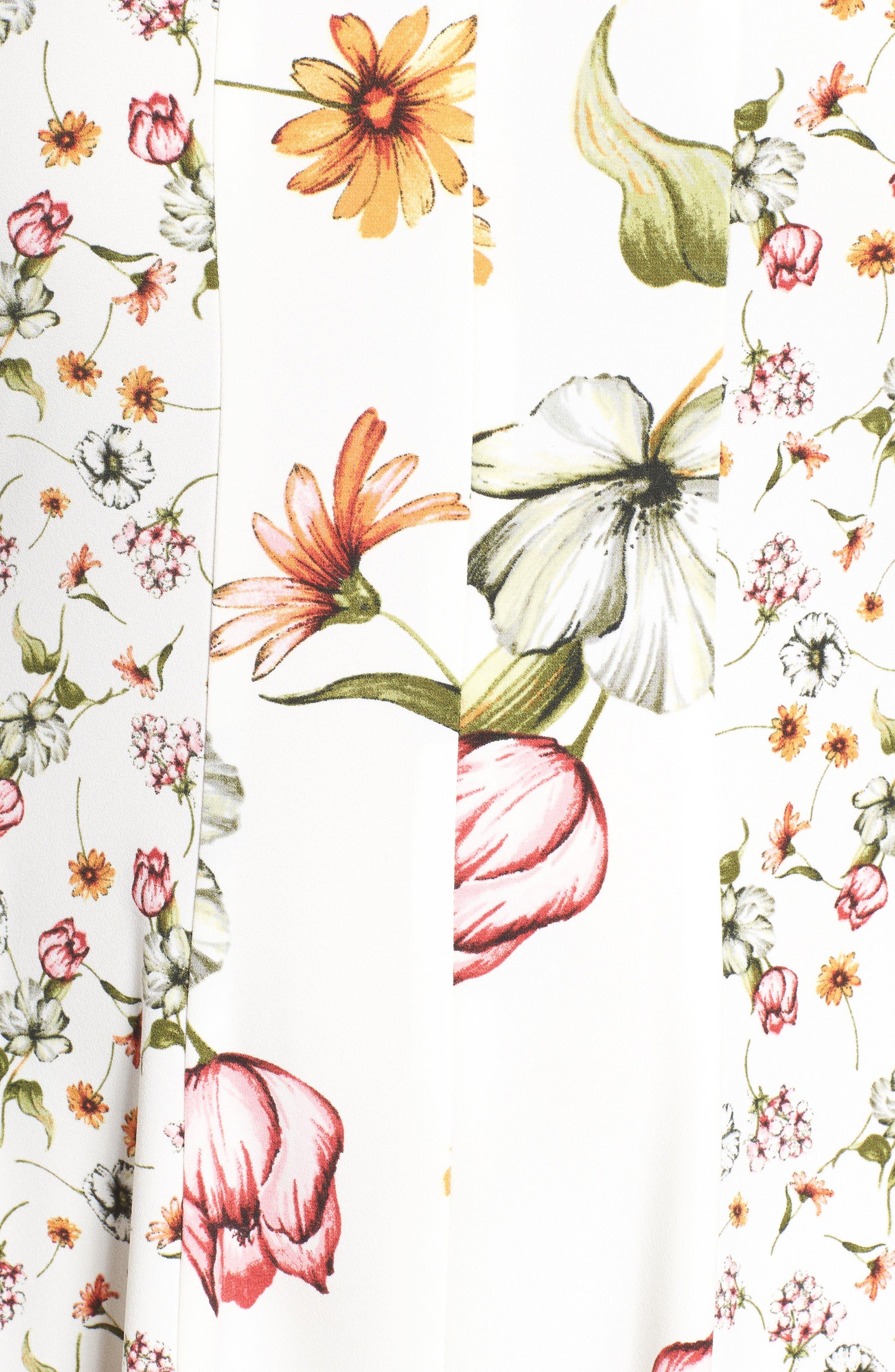 Alternate Image 5  - Gabby Skye Floral Print Fit & Flare Dress (Plus Size)