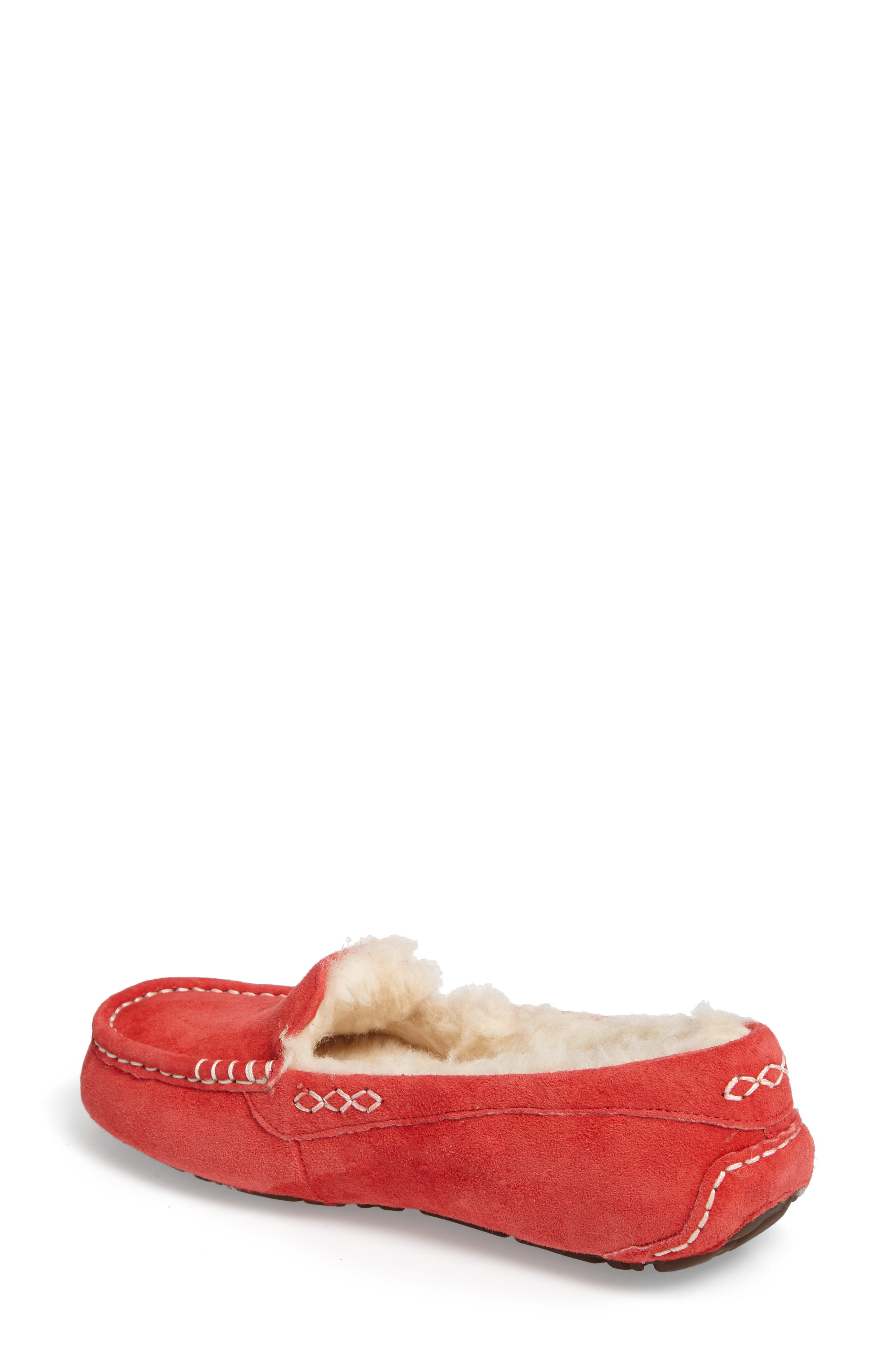 Ansley Water Resistant Slipper,                             Alternate thumbnail 2, color,                             Tango Suede
