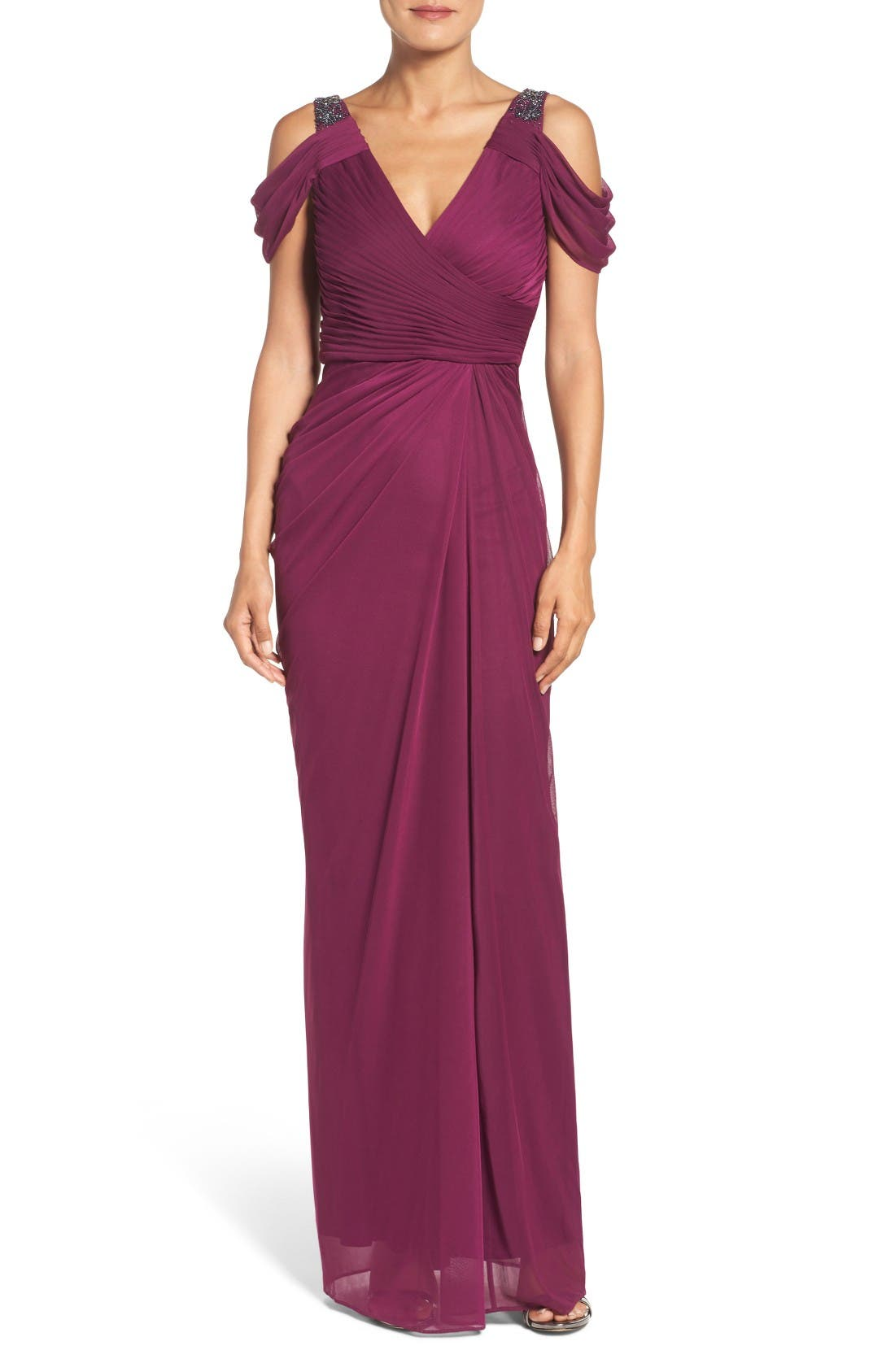 Adrianna Papell Cold Shoulder Gown