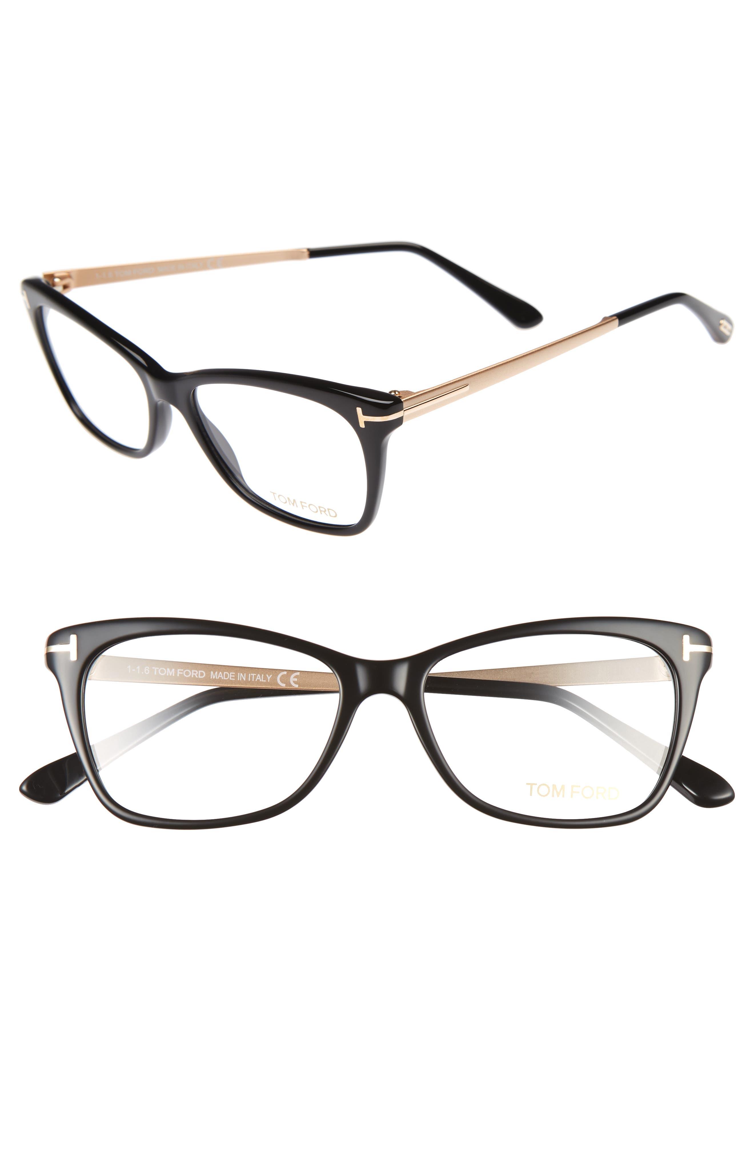f471b2ca4461 Tom Ford 52Mm Cat Eye Optical Glasses - Shiny Black