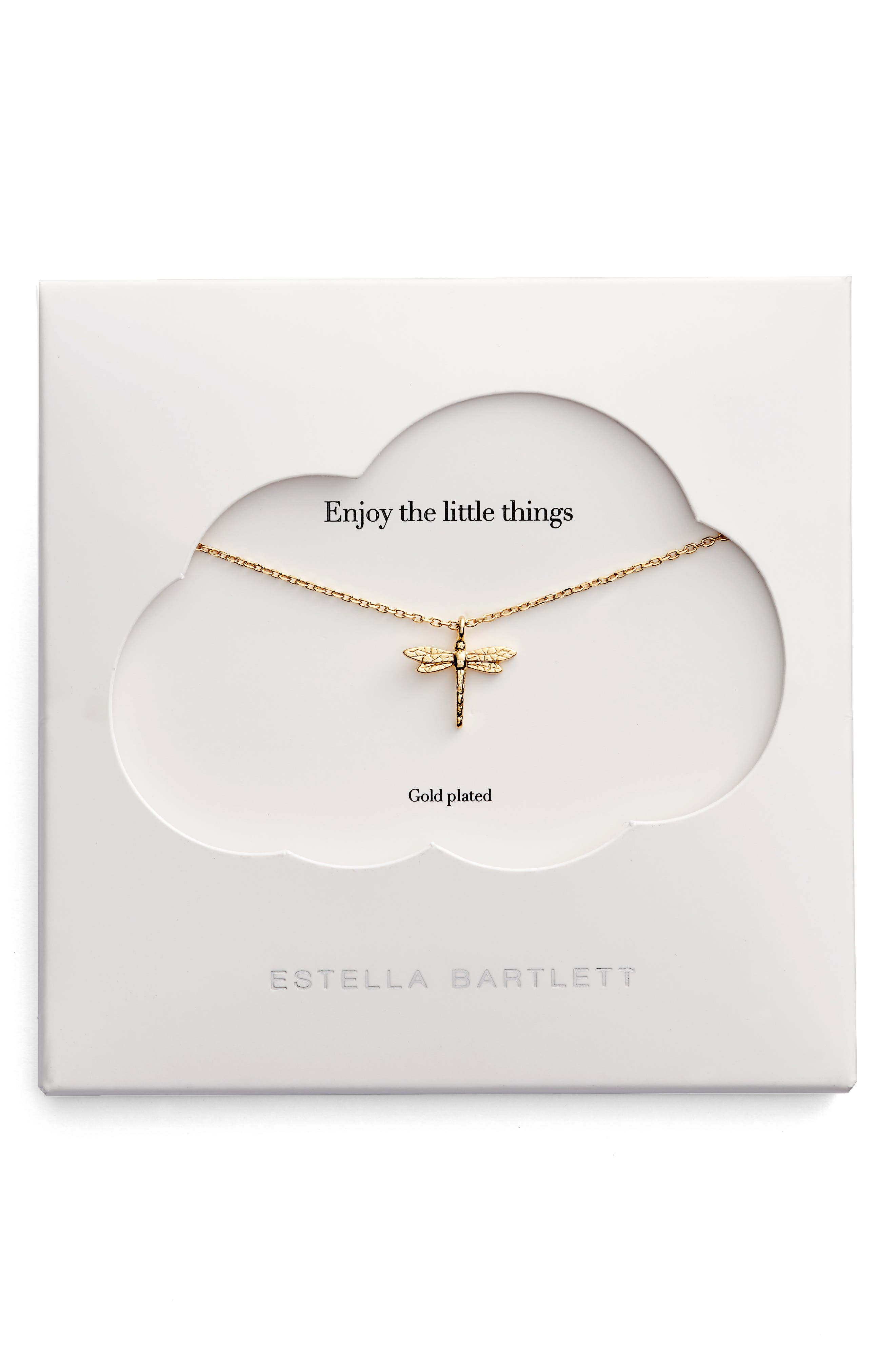 The Little Things Dragonfly Necklace,                             Main thumbnail 1, color,                             Gold