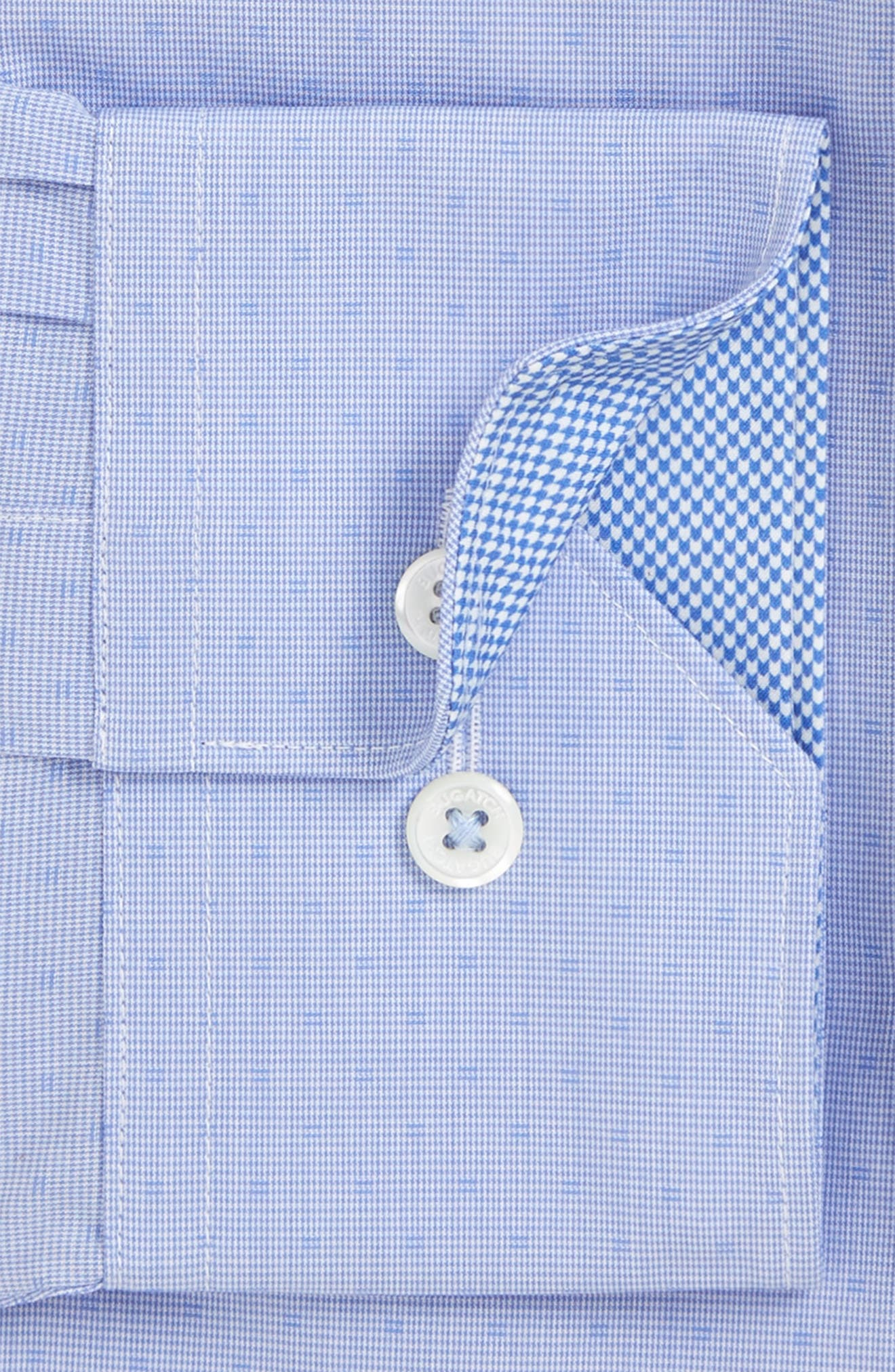Alternate Image 2  - Bugatchi Trim Fit Dot Dress Shirt