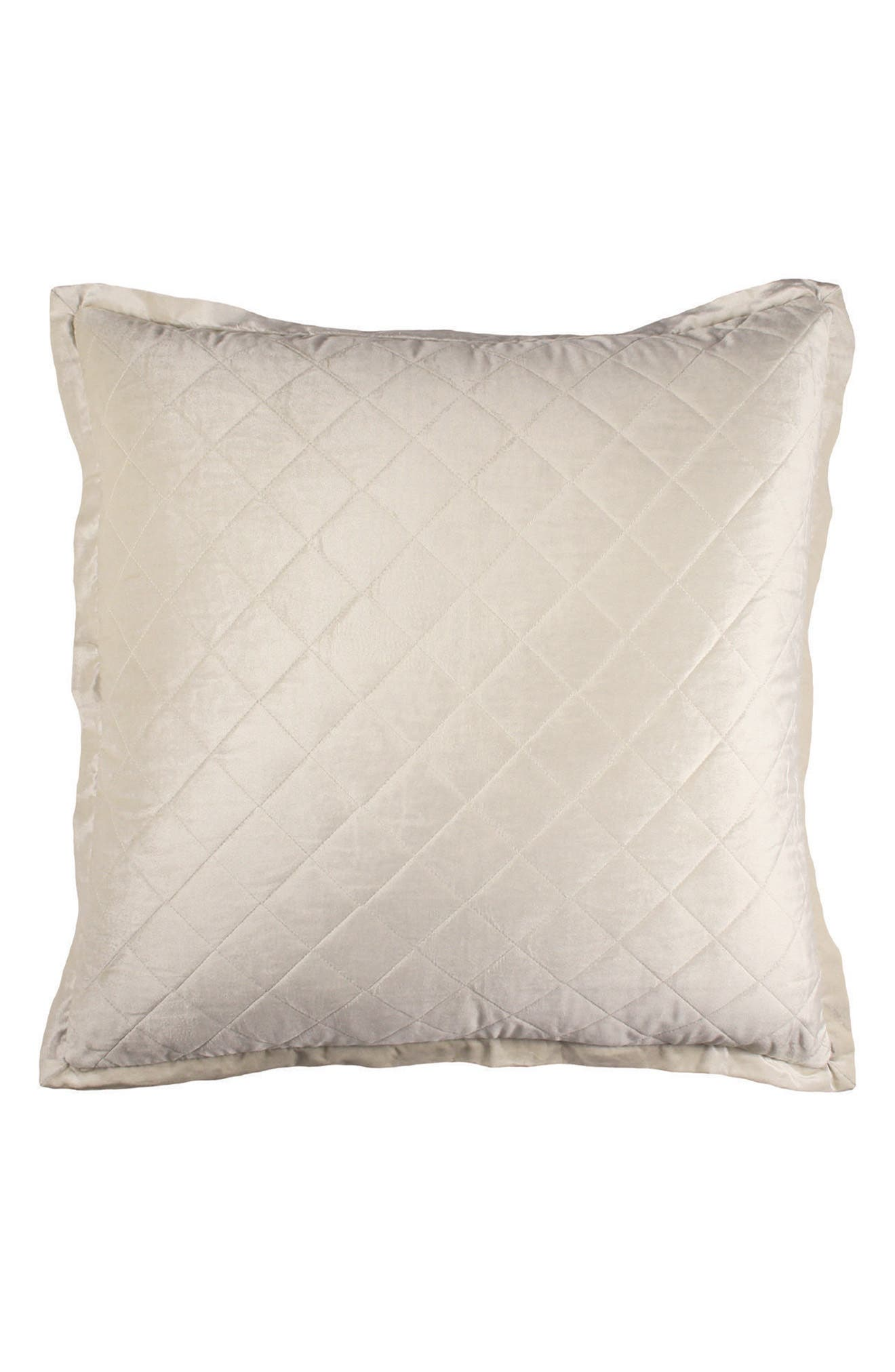 Chloe Quilted Euro Sham,                         Main,                         color, Ivory