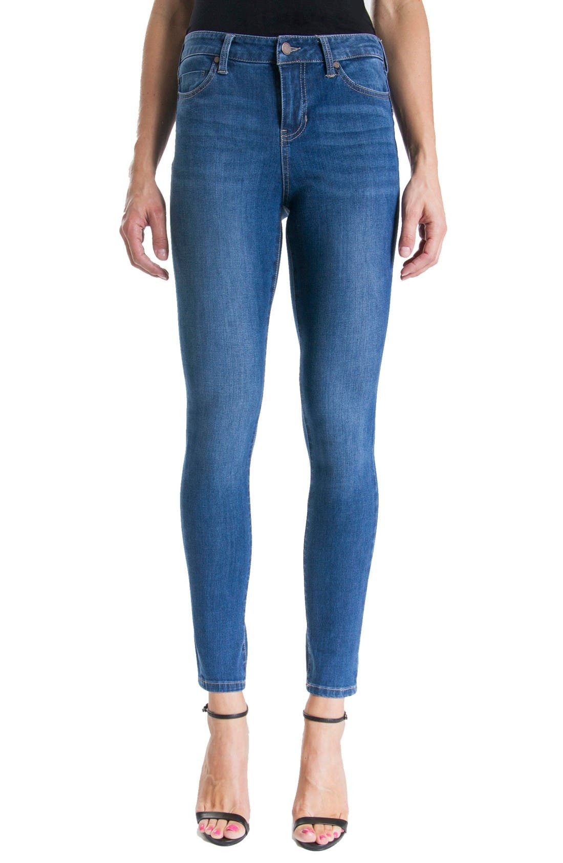 Piper Hugger Lift Sculpt Ankle Skinny Jeans,                         Main,                         color, Hydra Stone