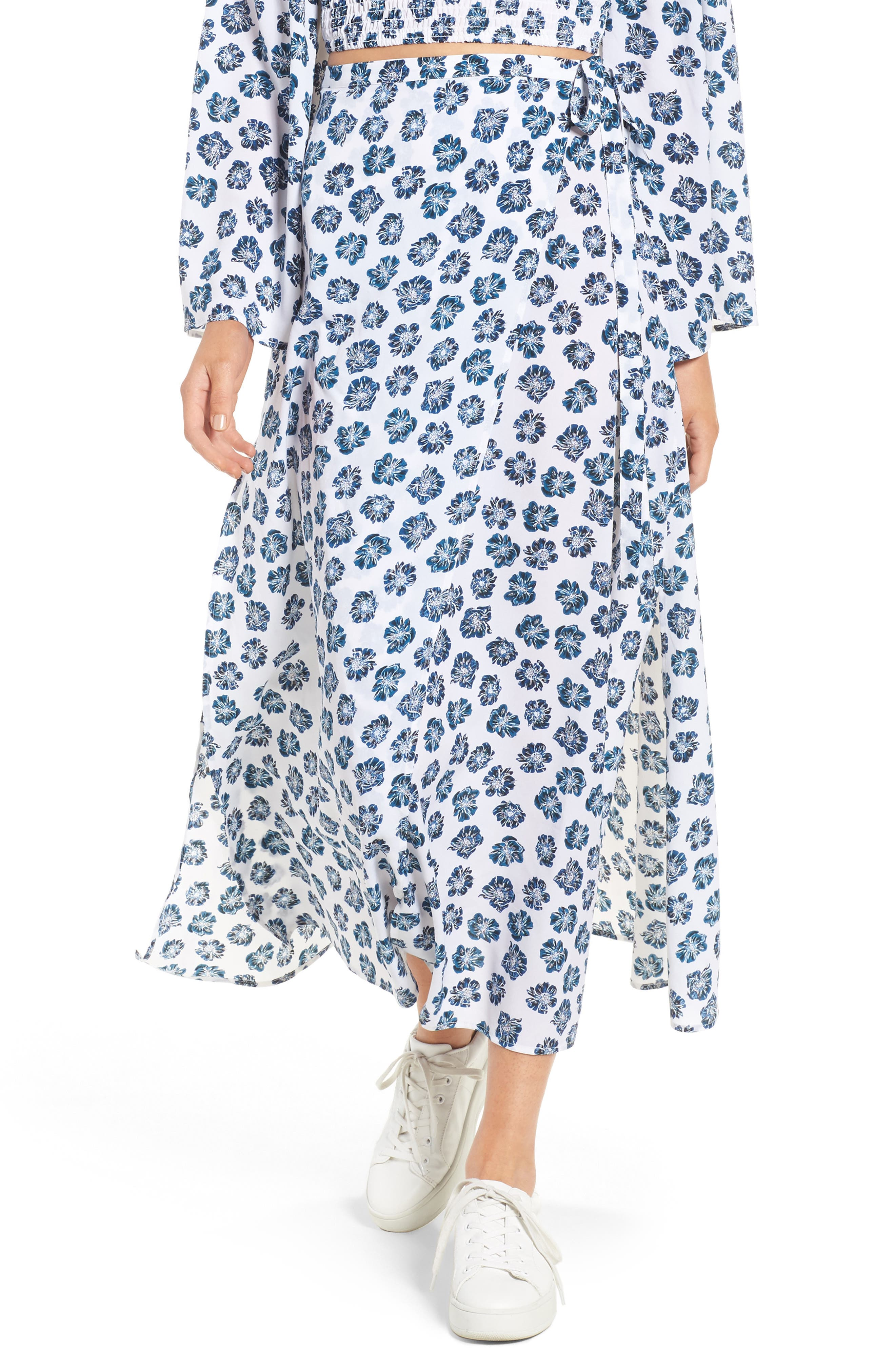 Alternate Image 1 Selected - The Fifth Label Romancing Print Wrap Skirt