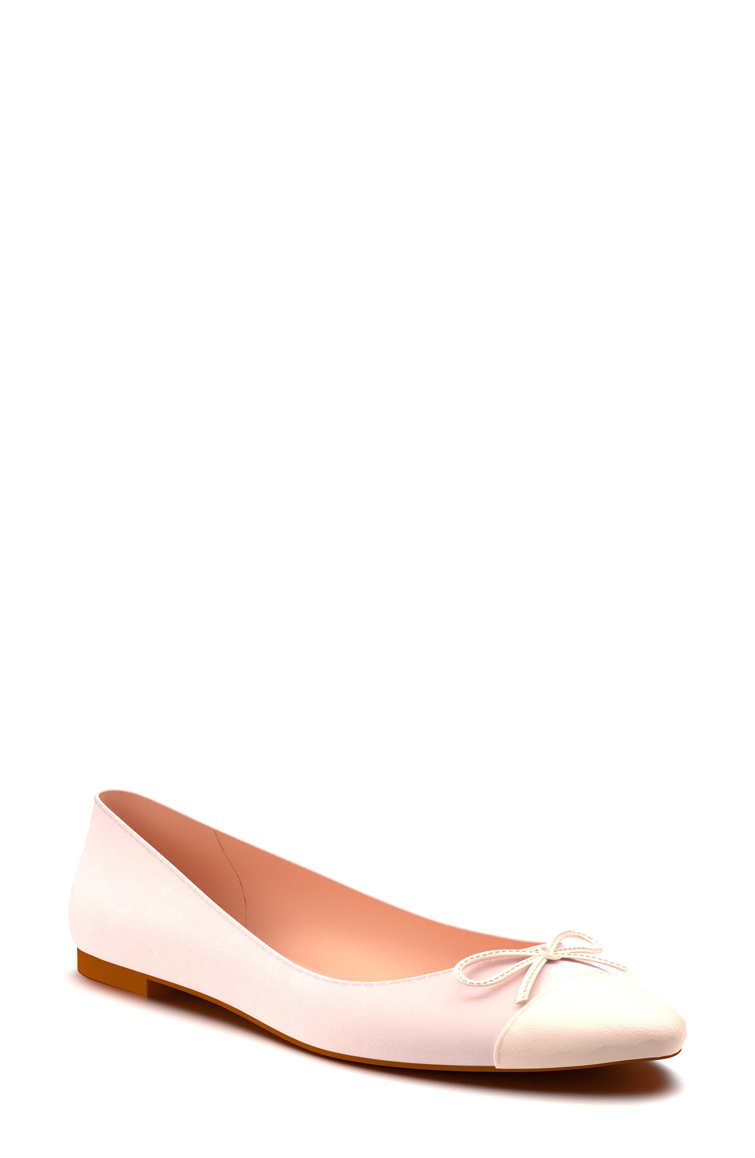 Shoes of Prey Almond Toe Ballet Flat (Women)
