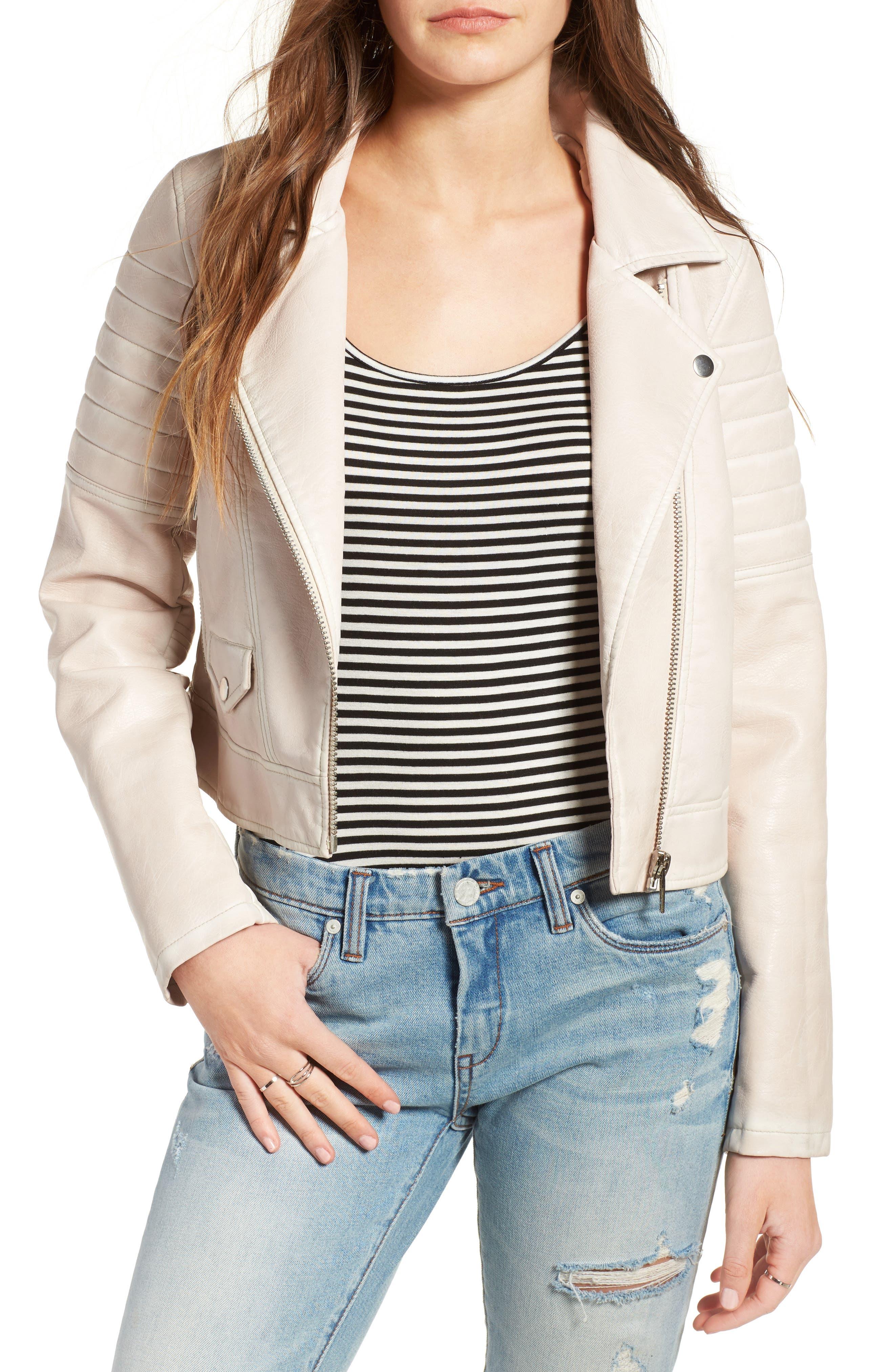 Alternate Image 1 Selected - BLANKNYC Faux Leather Moto Jacket