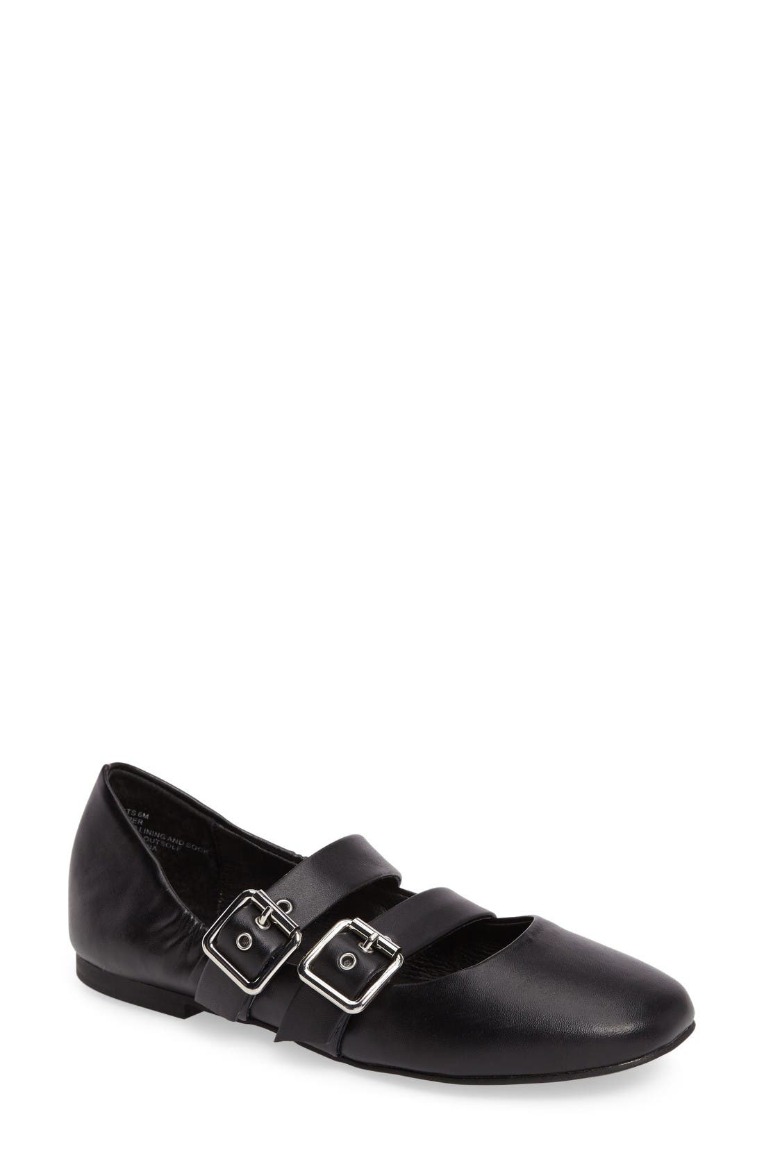 Alternate Image 1 Selected - Steve Madden Spirits Buckle Flat (Women)