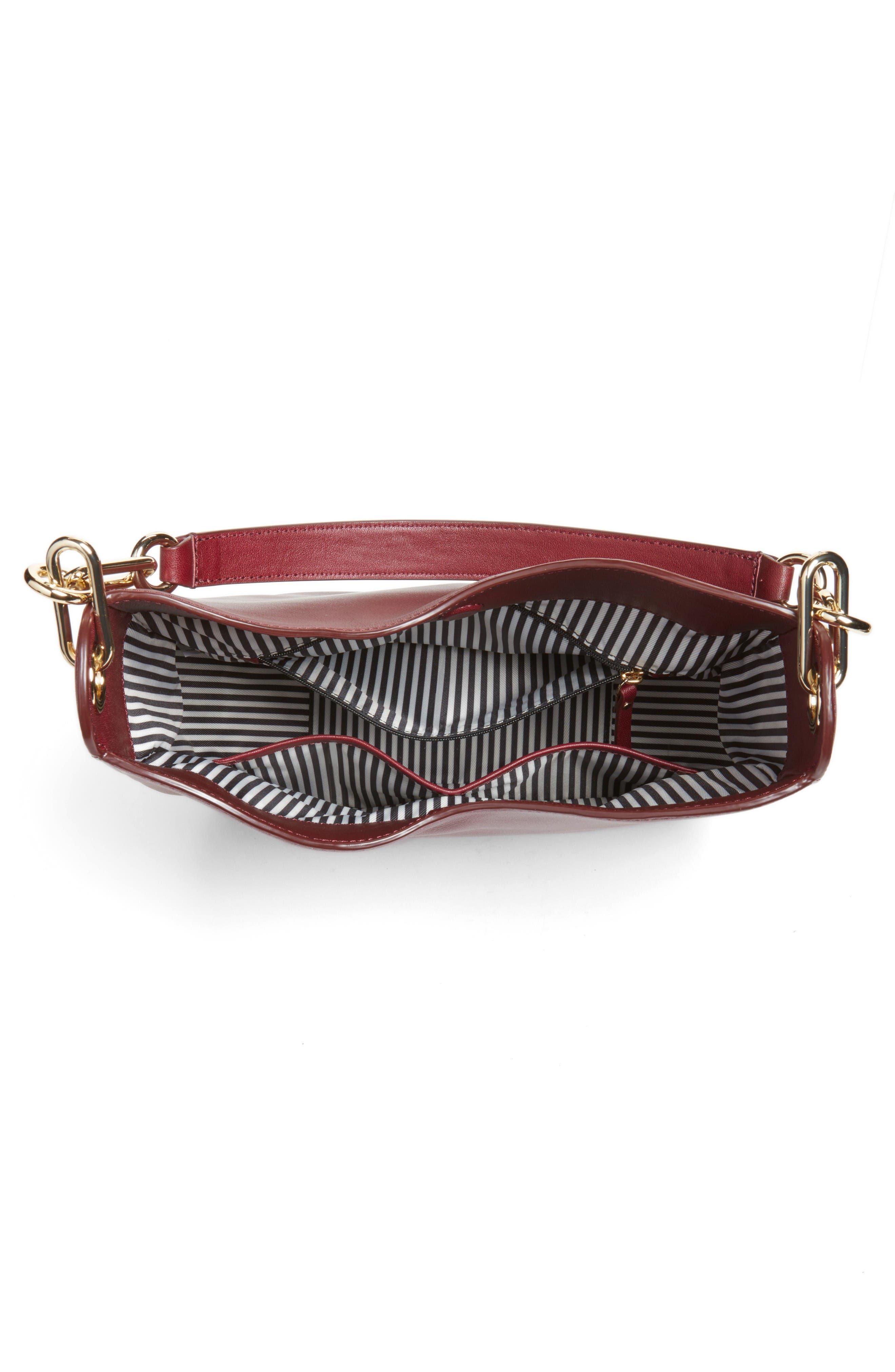 robson lane sana leather shoulder bag,                             Alternate thumbnail 4, color,                             Cherry Wood