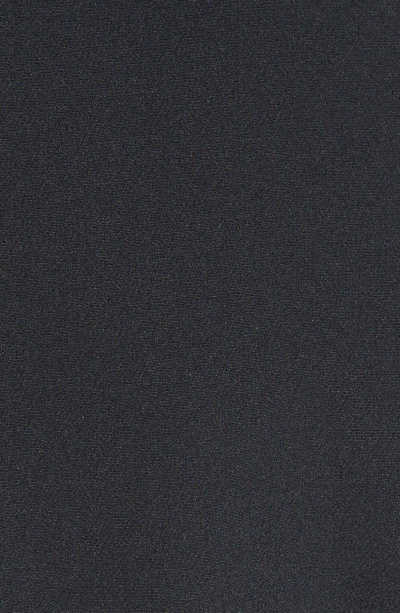 Stretch Crepe Cold Shoulder Minidress,                             Alternate thumbnail 5, color,                             Black