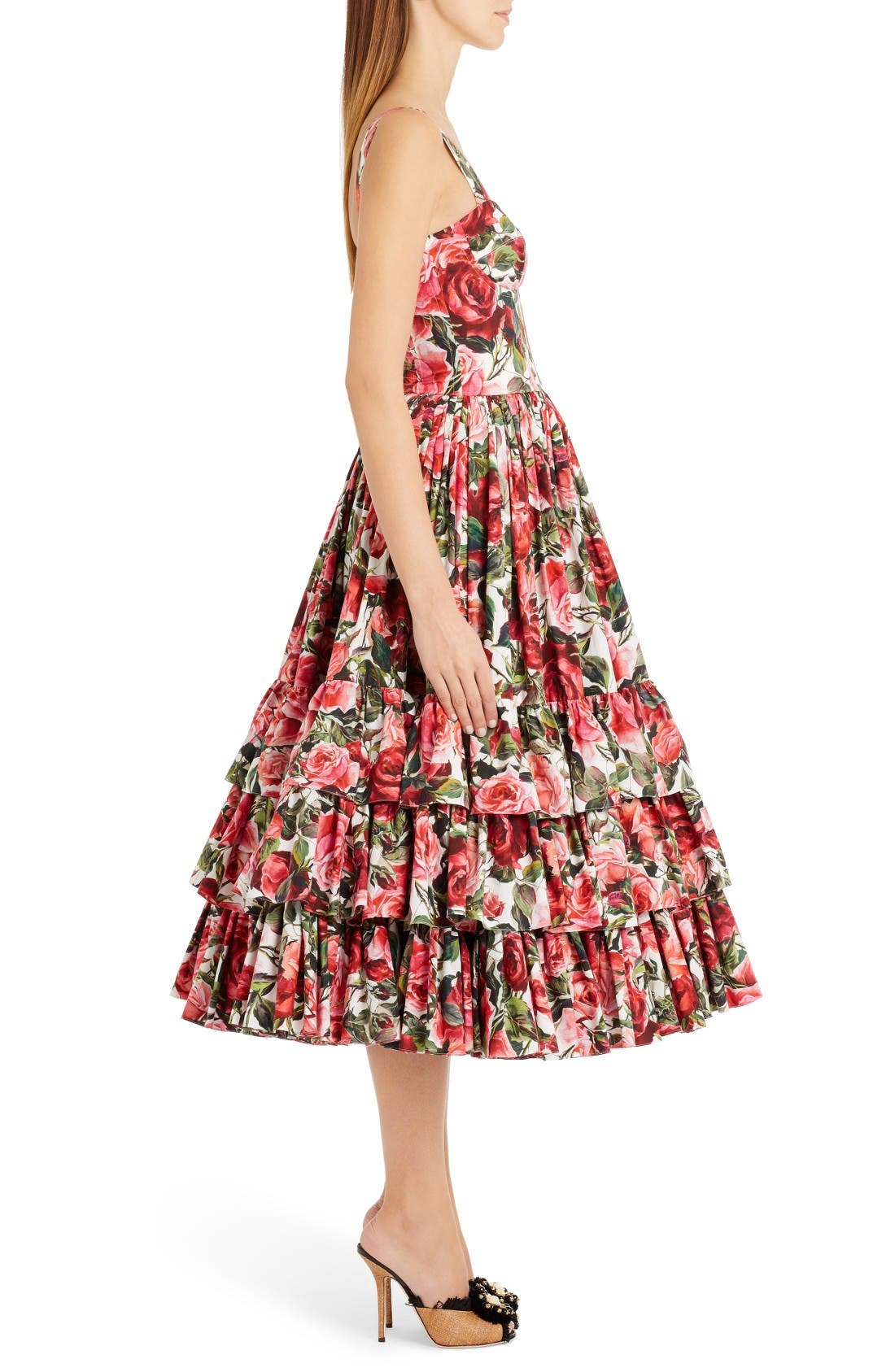 Alternate Image 4  - Dolce&Gabbana Floral Print Poplin Dress