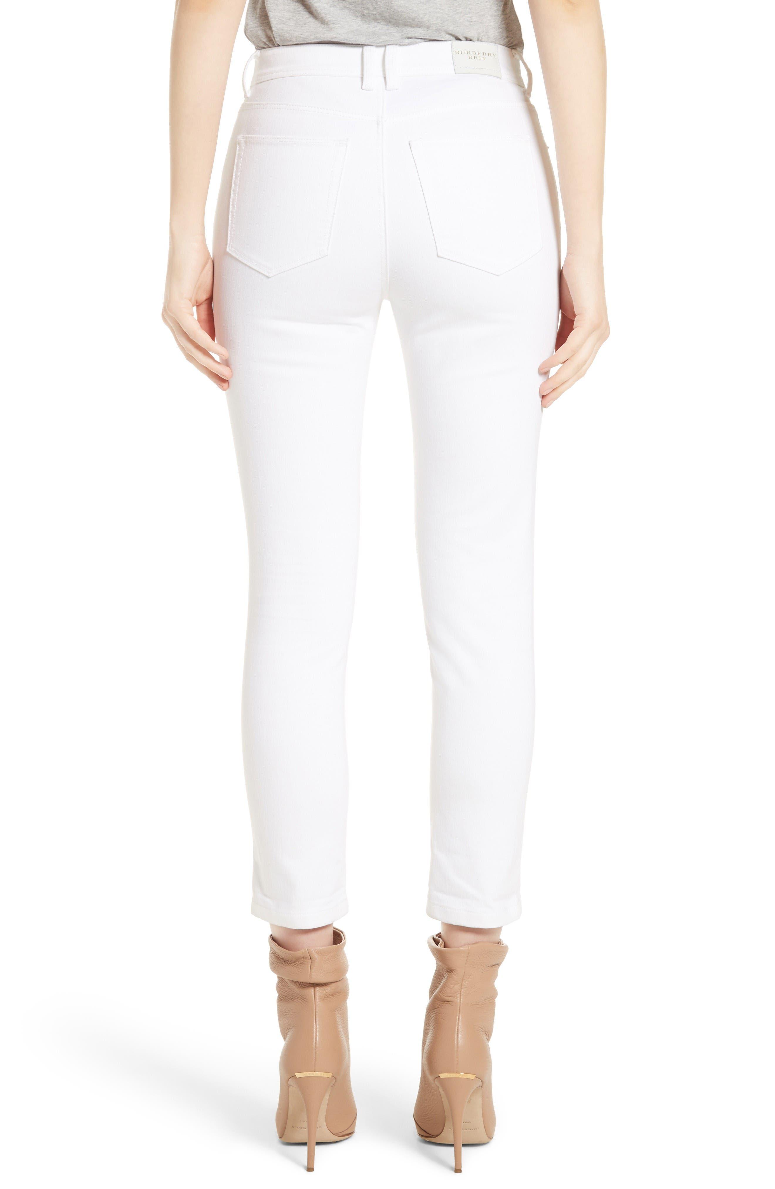 Alternate Image 2  - Burberry Stretch Crop Skinny Jeans