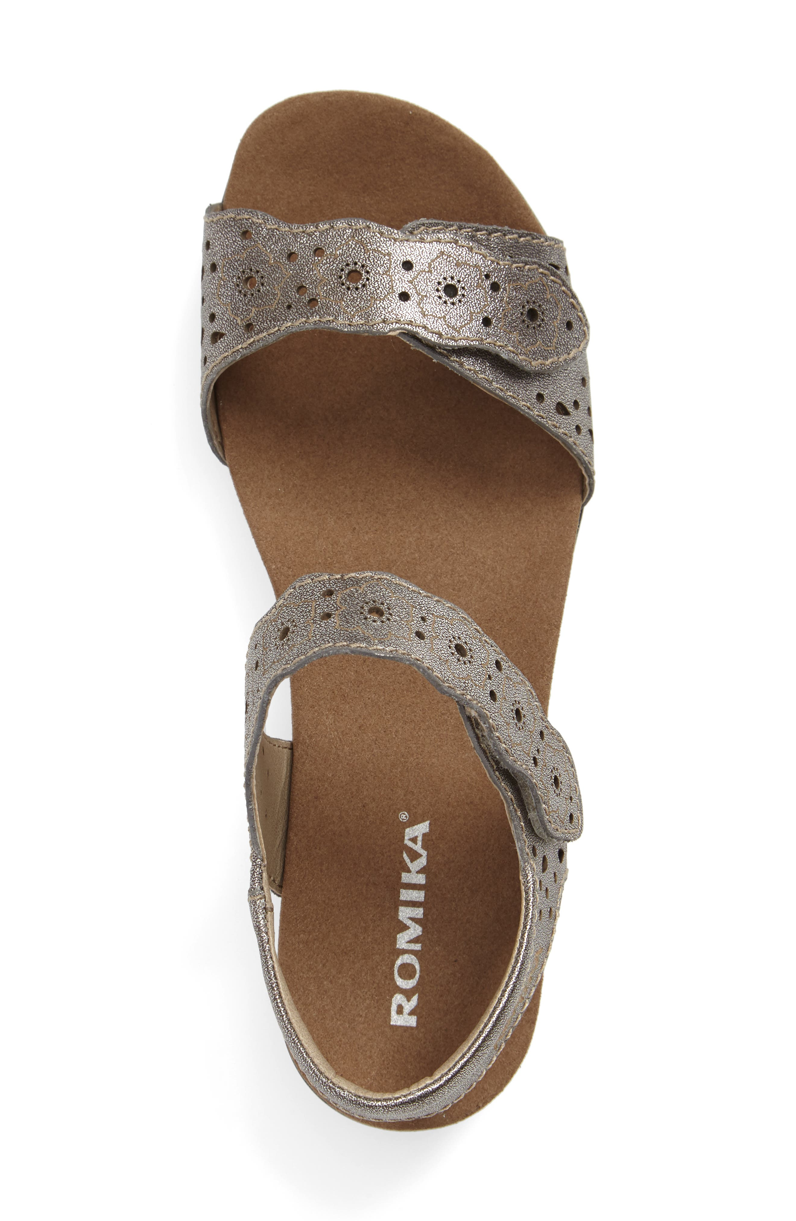 'Tahiti 03' Quarter Strap Sandal,                             Alternate thumbnail 3, color,                             Anthracite Leather