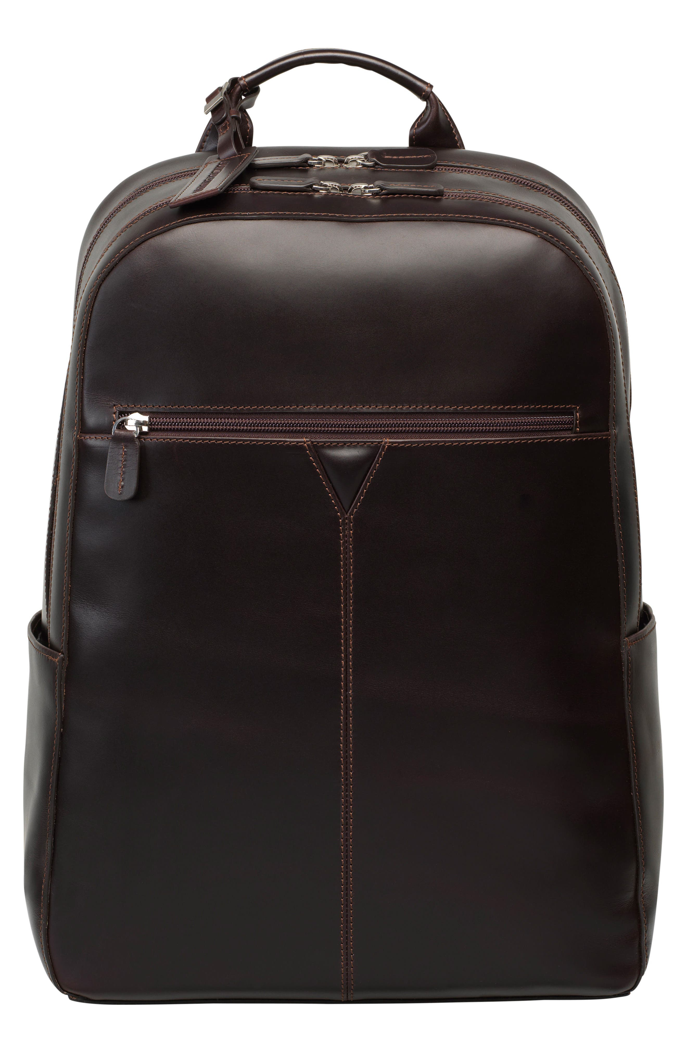 Alternate Image 1 Selected - Johnston & Murphy Leather Backpack