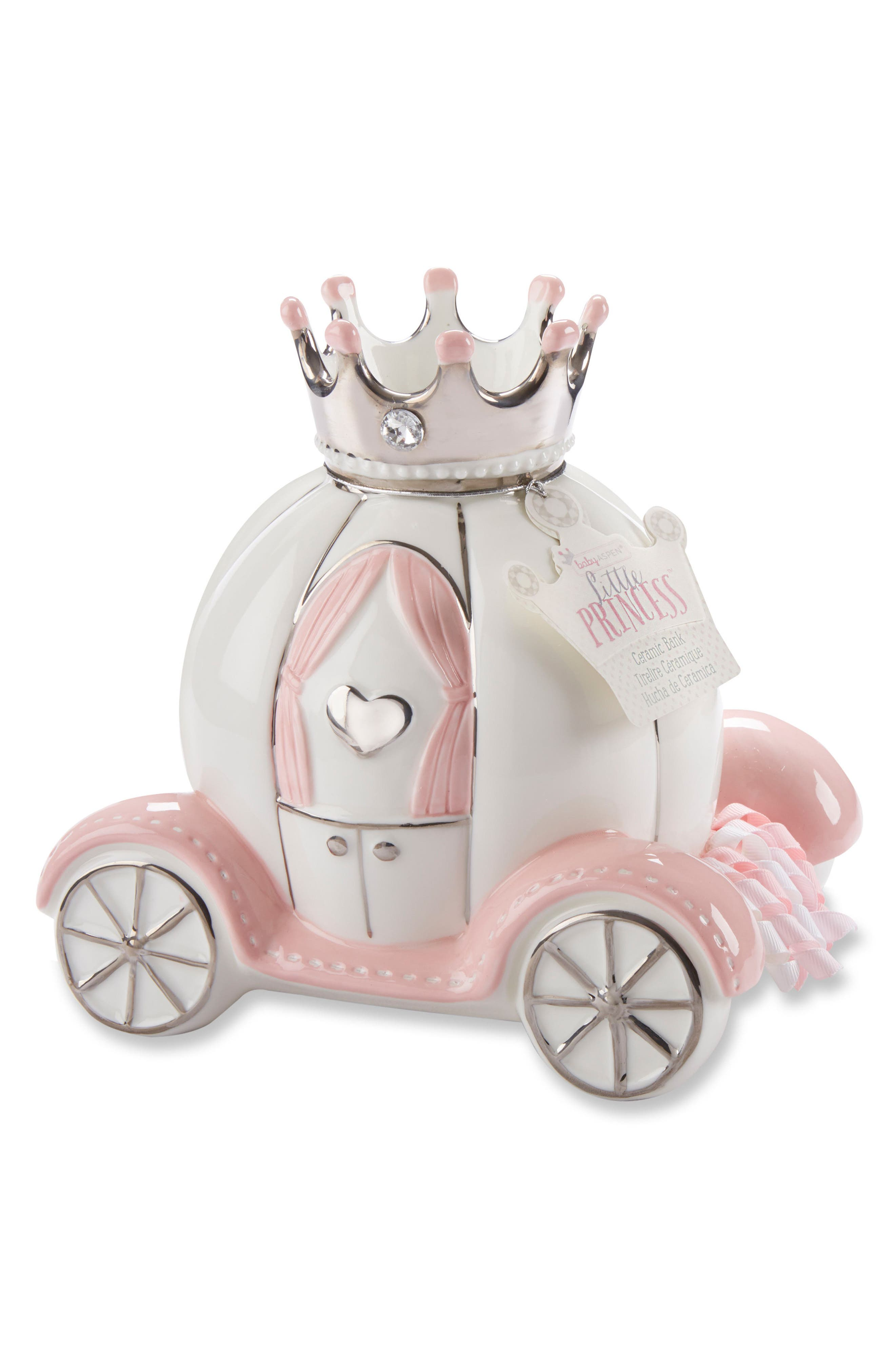 Little Princess Ceramic Carriage Bank,                             Main thumbnail 1, color,                             Carriage