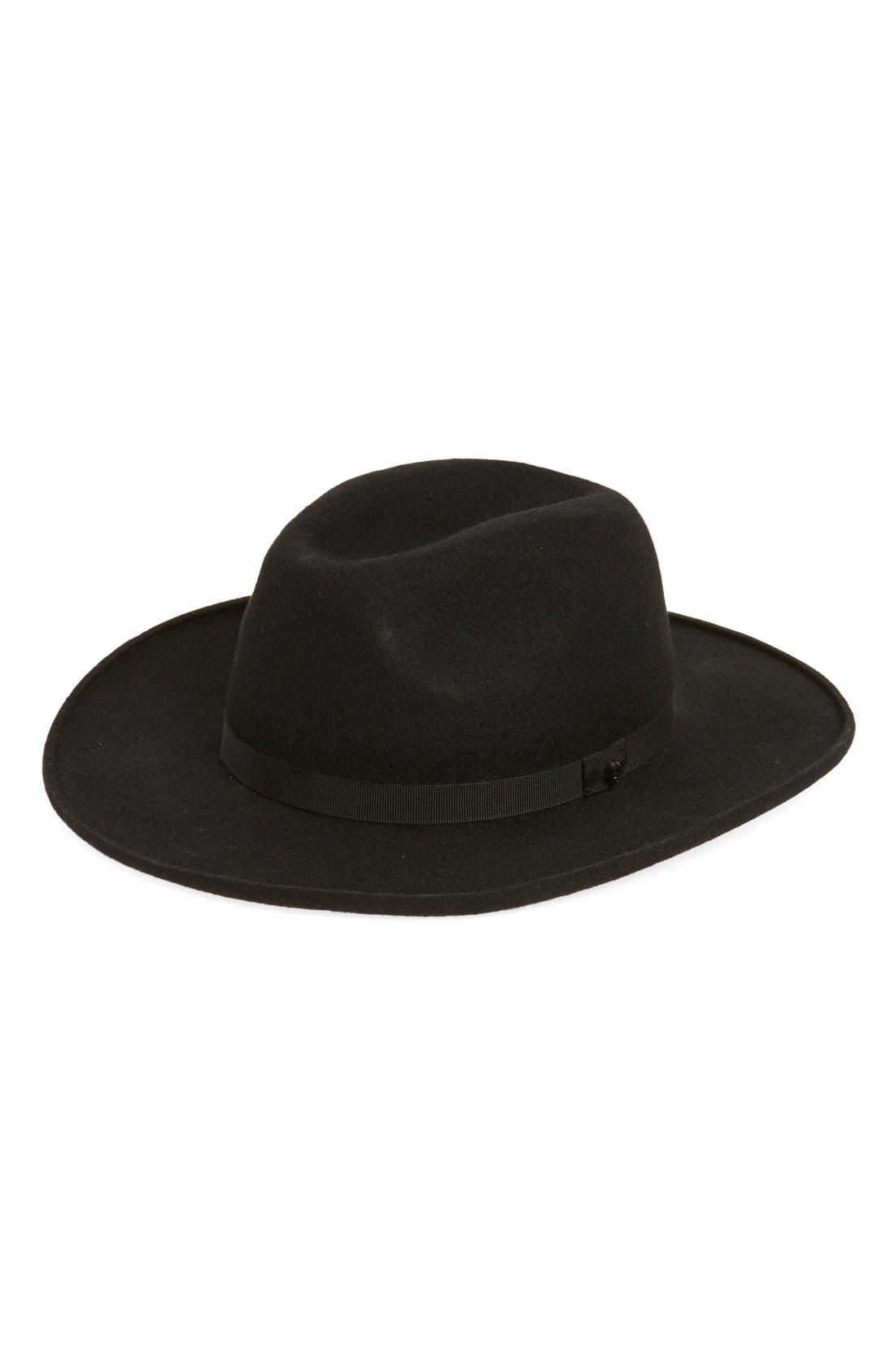 Wool Felt Hat,                         Main,                         color, Black