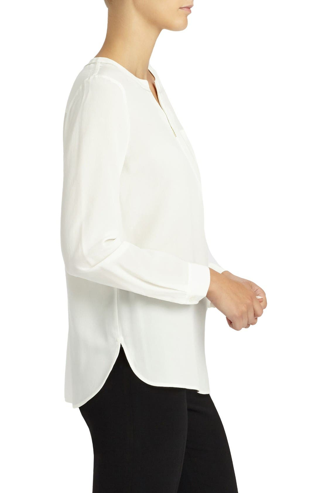 Alternate Image 3  - Lafayette 148 New York Veronica Silk Blouse
