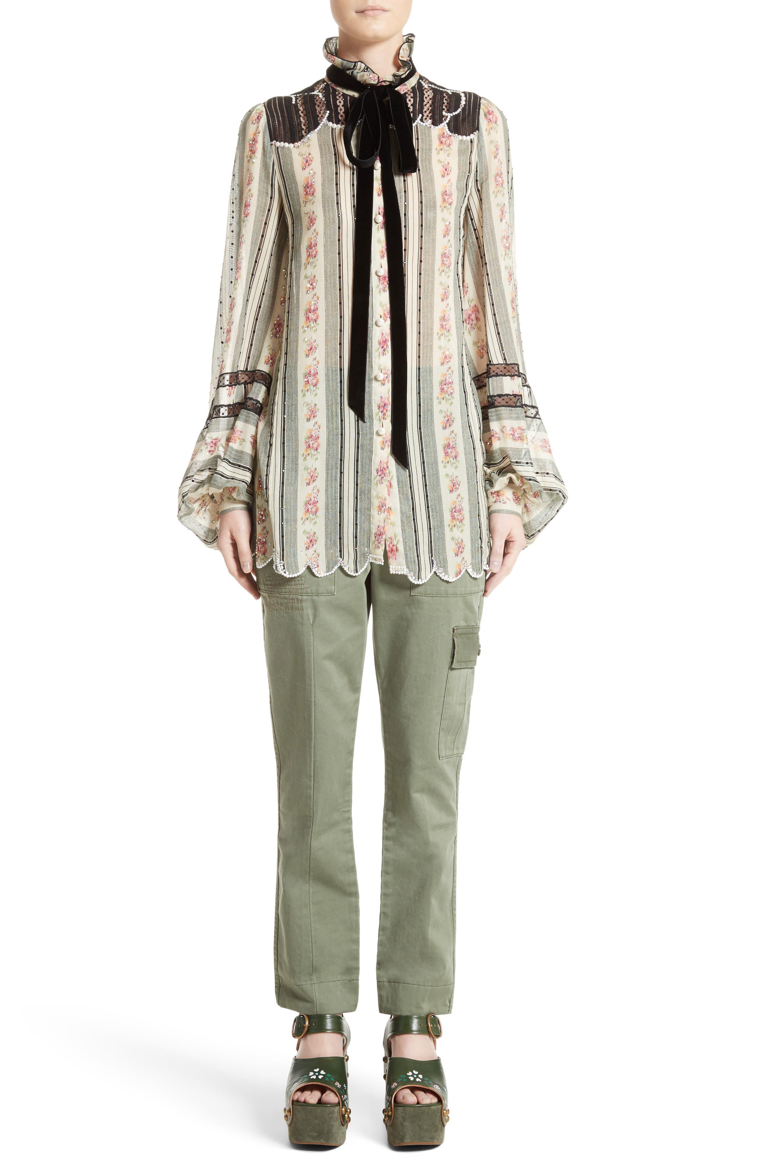 Alternate Image 7  - MARC JACOBS Embellished Brocade Print Blouse