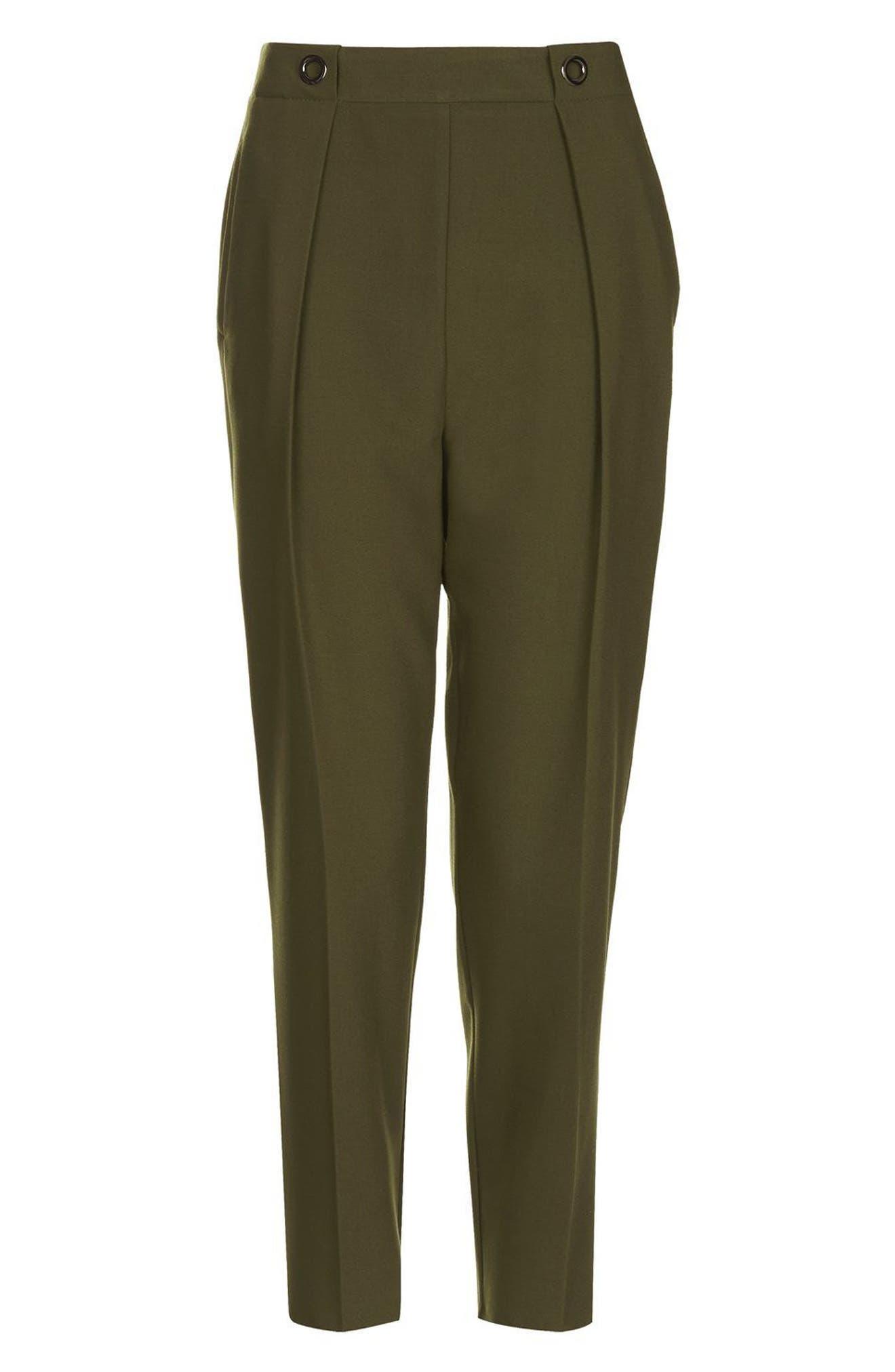 Alternate Image 4  - Topshop Grommet Detail Peg Trousers