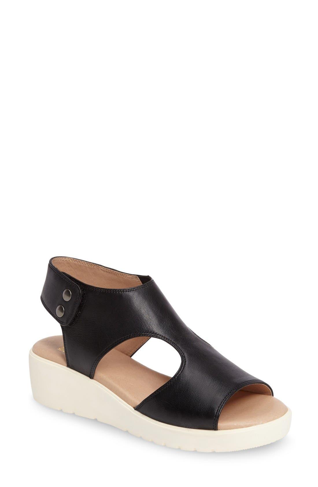 Johnston & Murphy Camilla Slingback Wedge Sandal (Women)