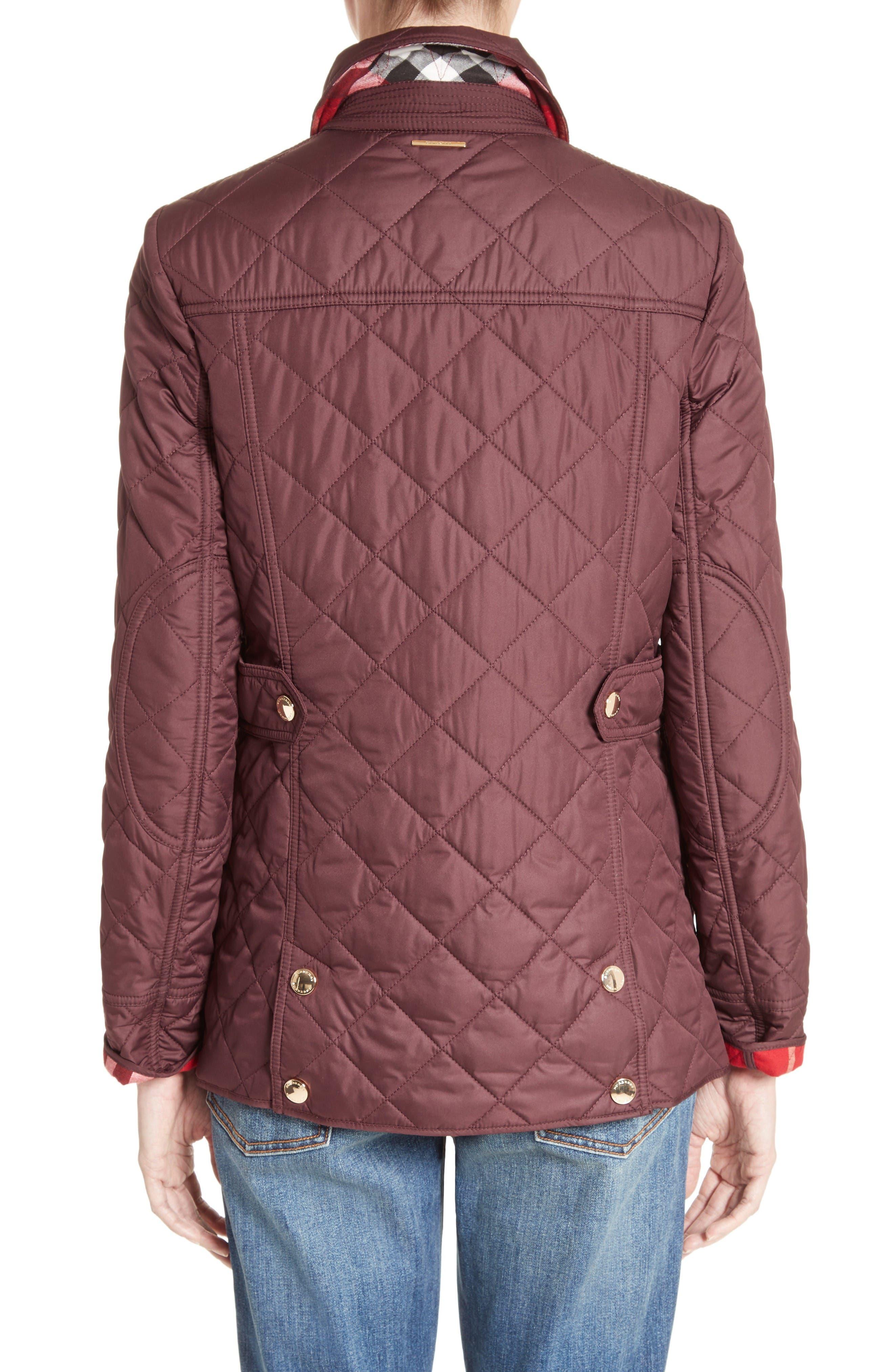 Westbridge Quilted Jacket,                             Alternate thumbnail 2, color,                             Burgundy