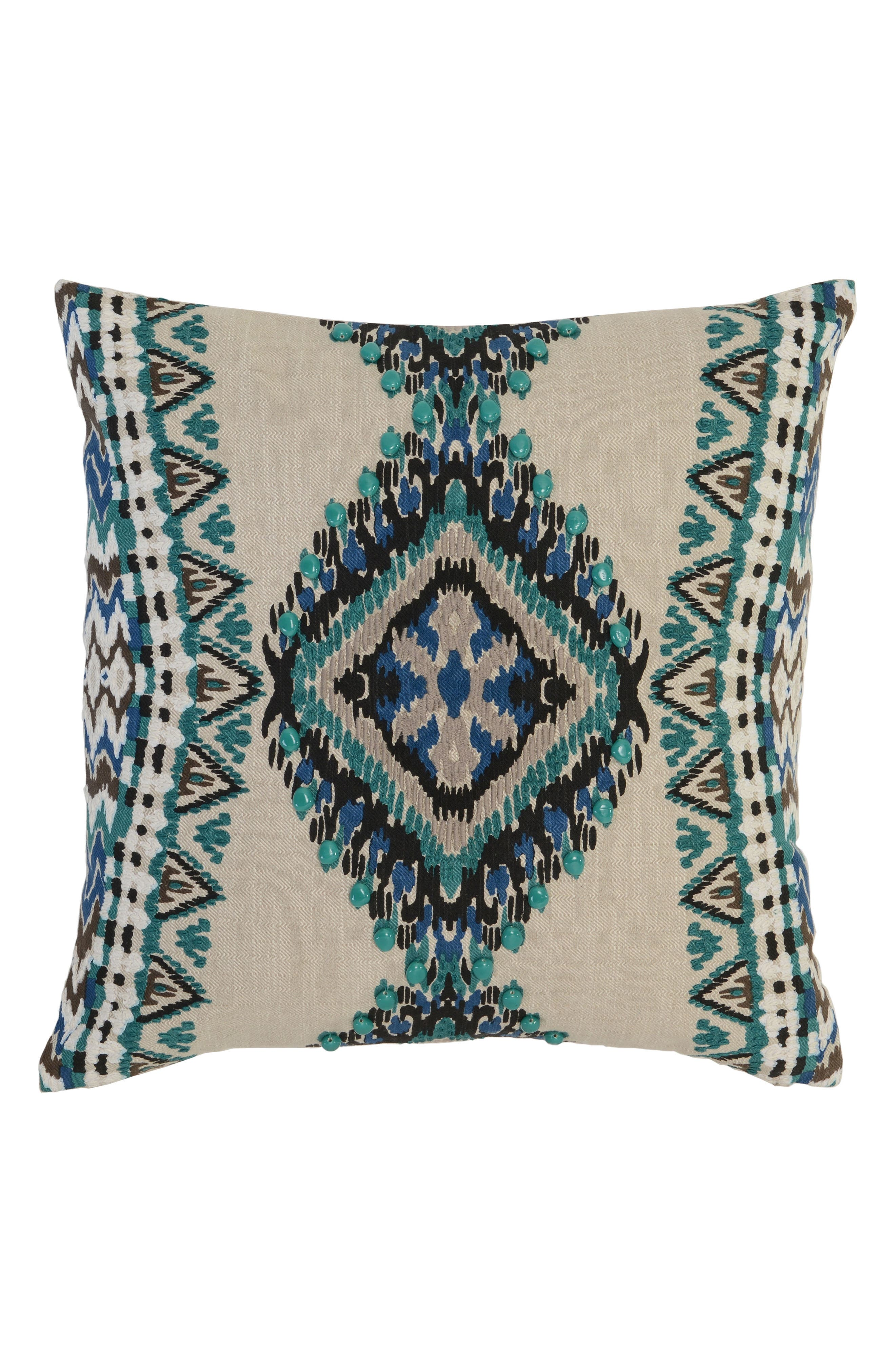 Chita Accent Pillow,                         Main,                         color, Teal/ Ivory