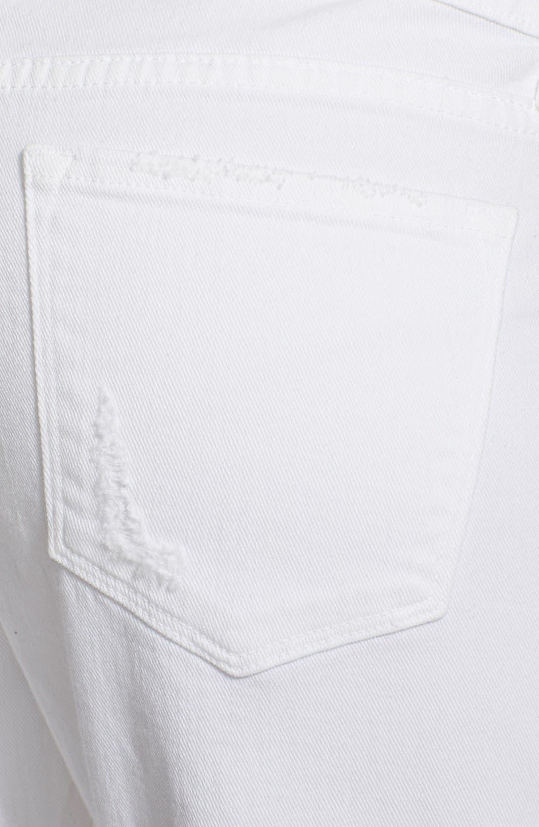 Alternate Image 3  - Frame Denim 'Le Garcon' Destroyed Slim Boyfriend Jeans (Rip Blanc)