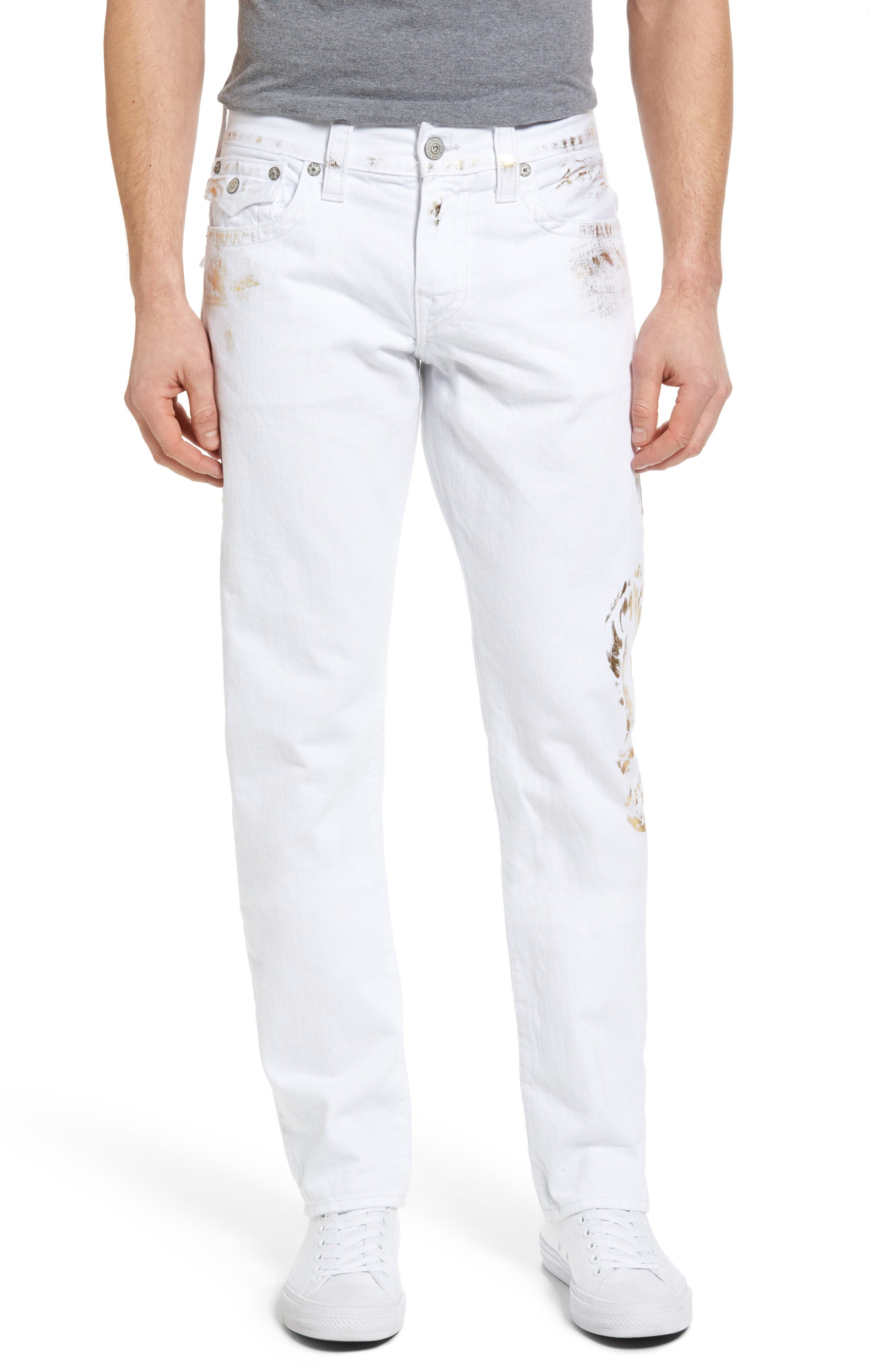 True Religion Brand Jeans Ricky Relaxed Fit Jeans (Optic Gold)