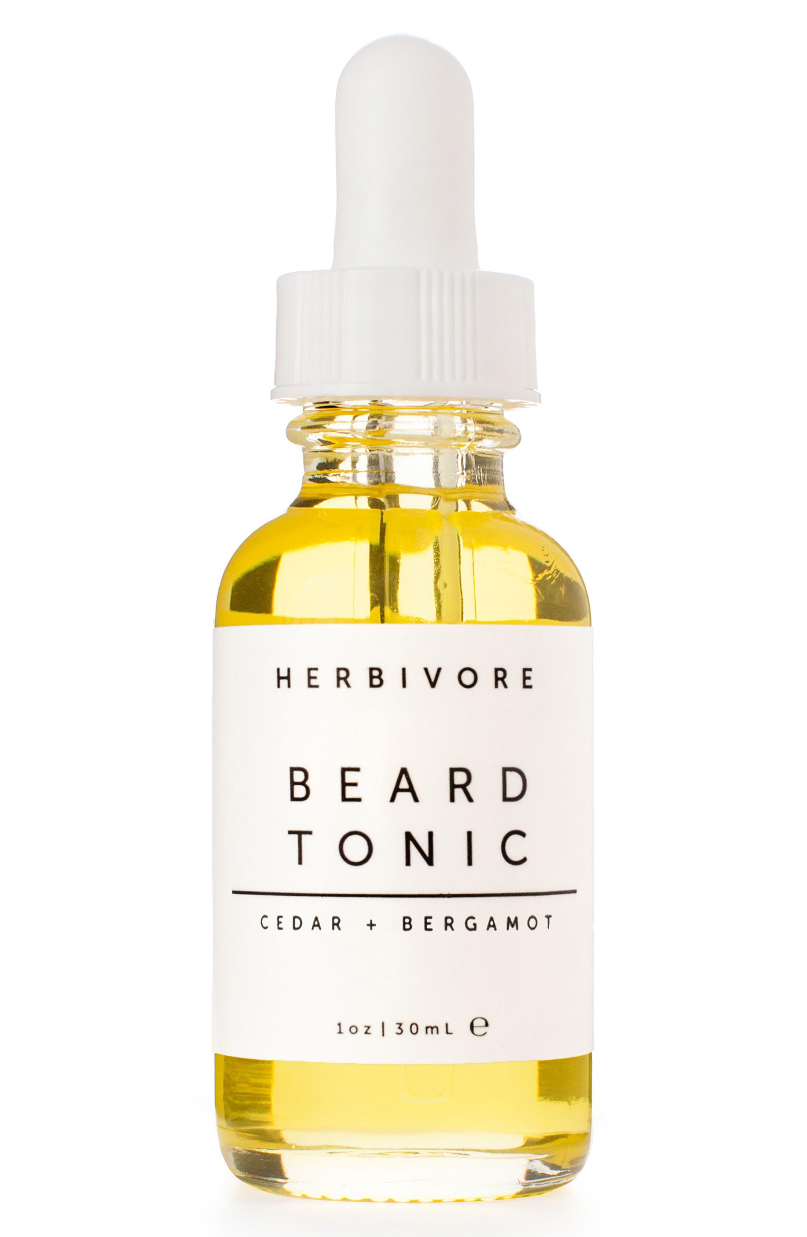 Main Image - Herbivore Botanicals Cedar + Bergamot Beard Tonic