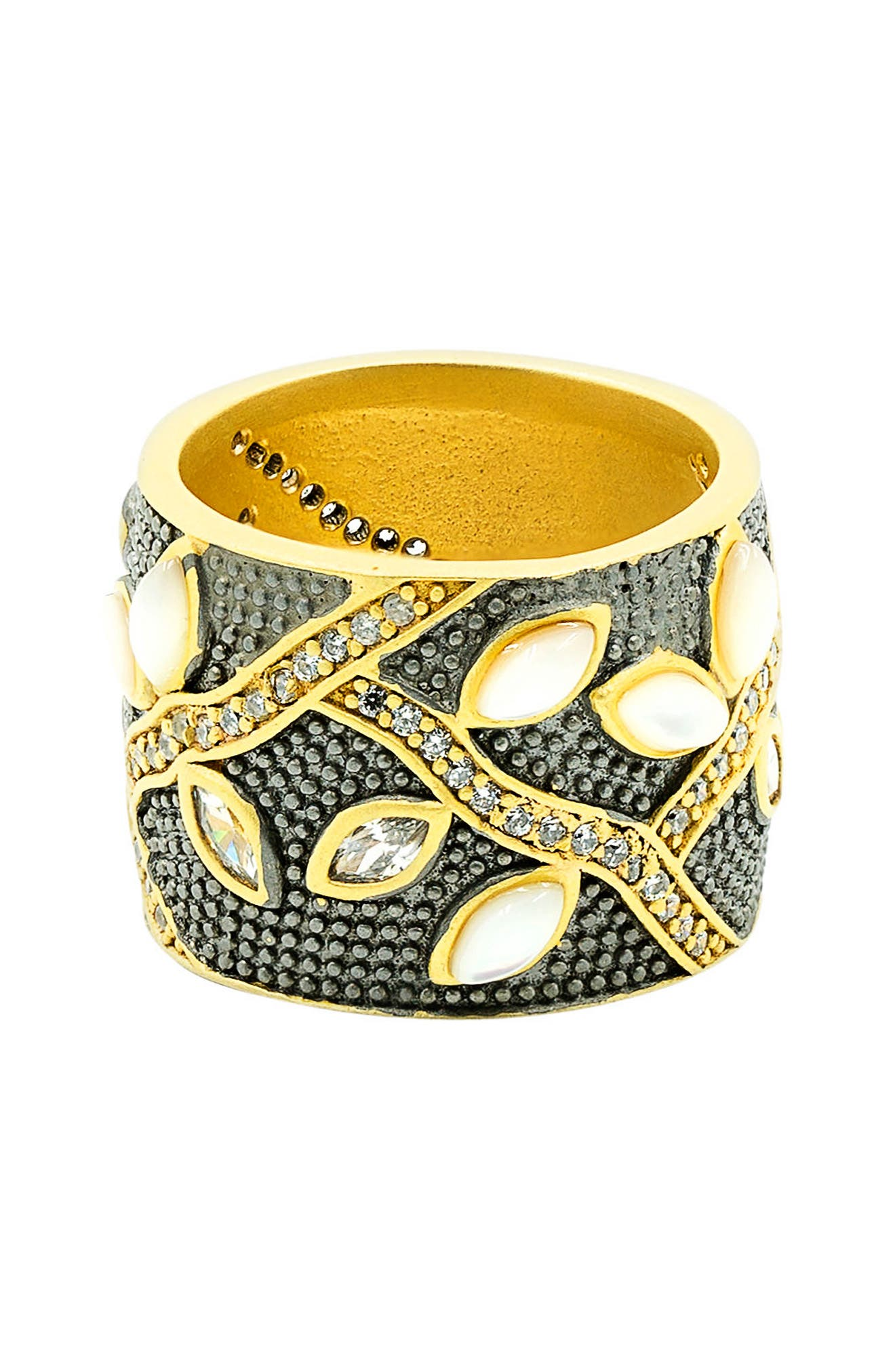FREIDA ROTHMAN Fleur Bloom Cigar Band Ring