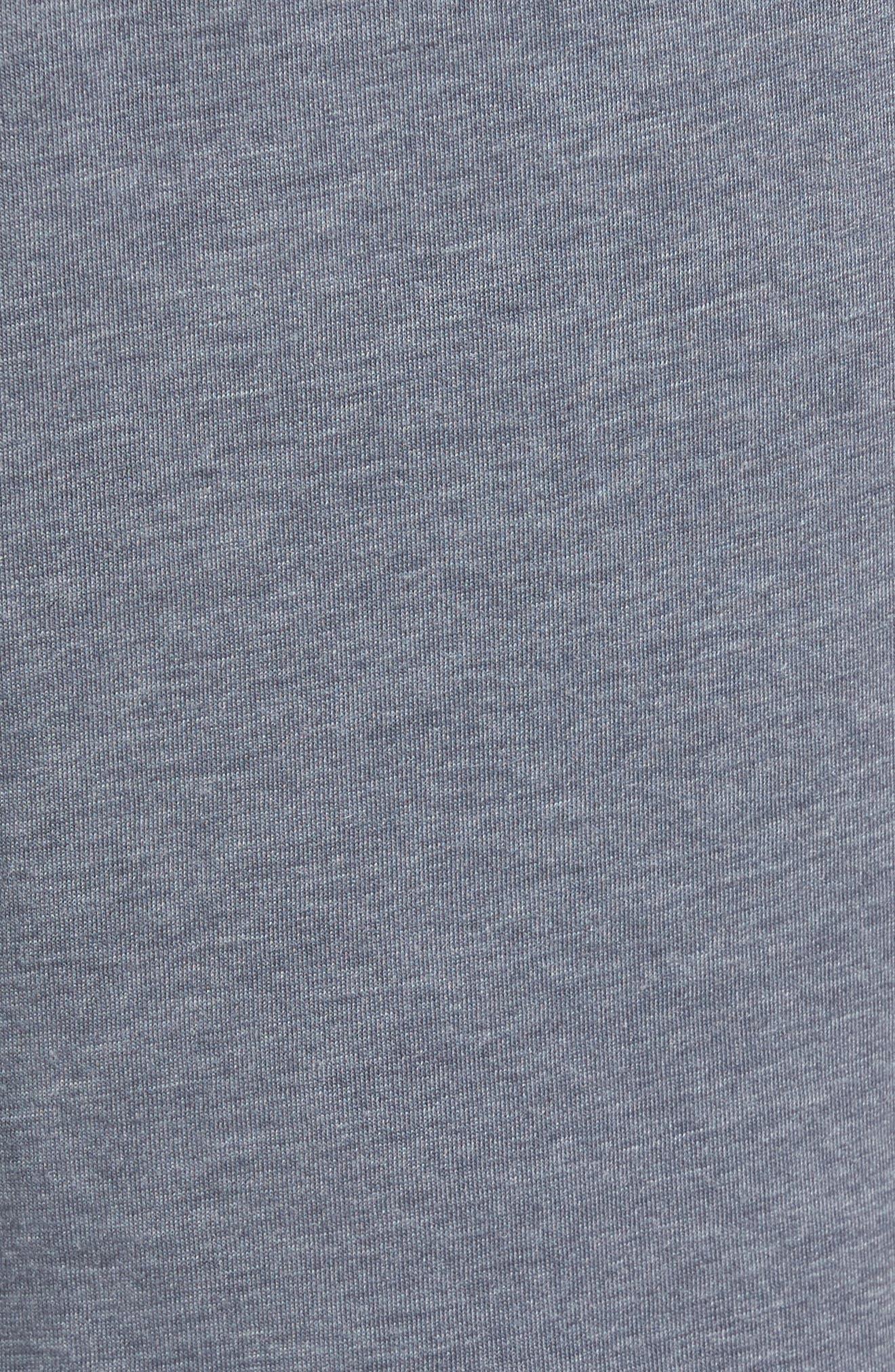 Burnout Lounge Shorts,                             Alternate thumbnail 5, color,                             Charcoal