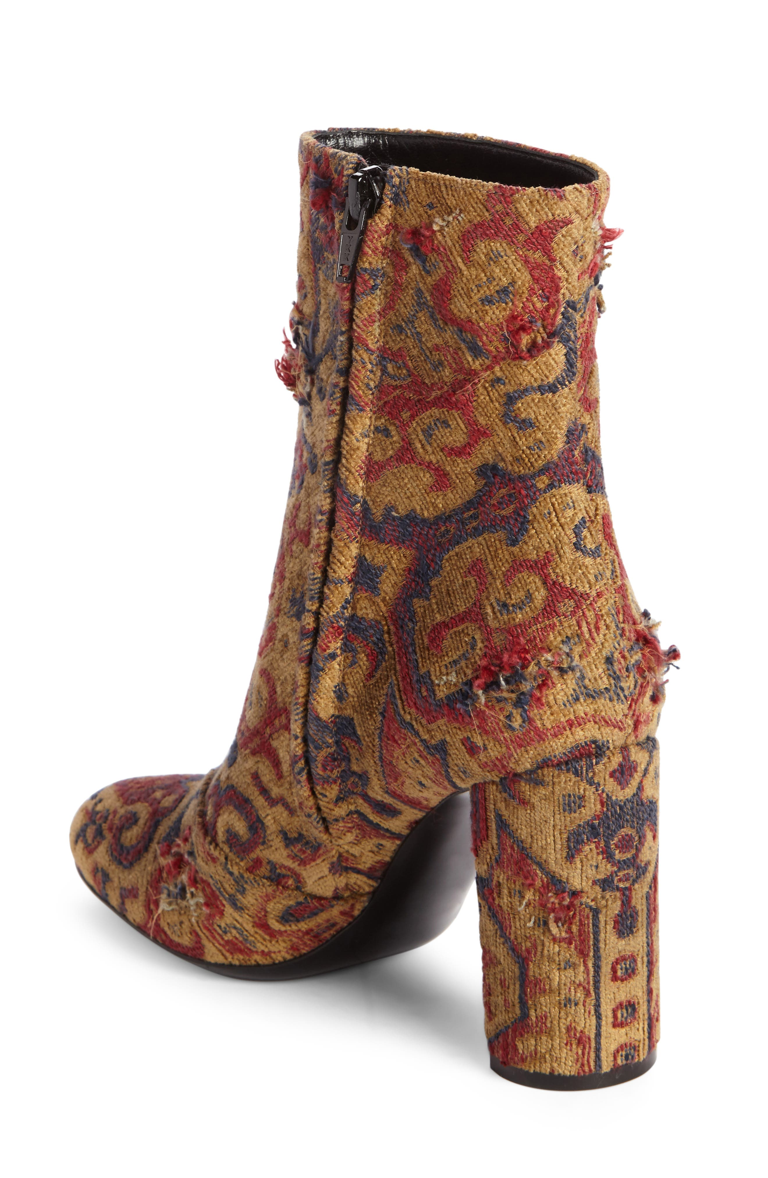 Alternate Image 2  - Saint Laurent Loulou - Tapestry Bootie (Women)