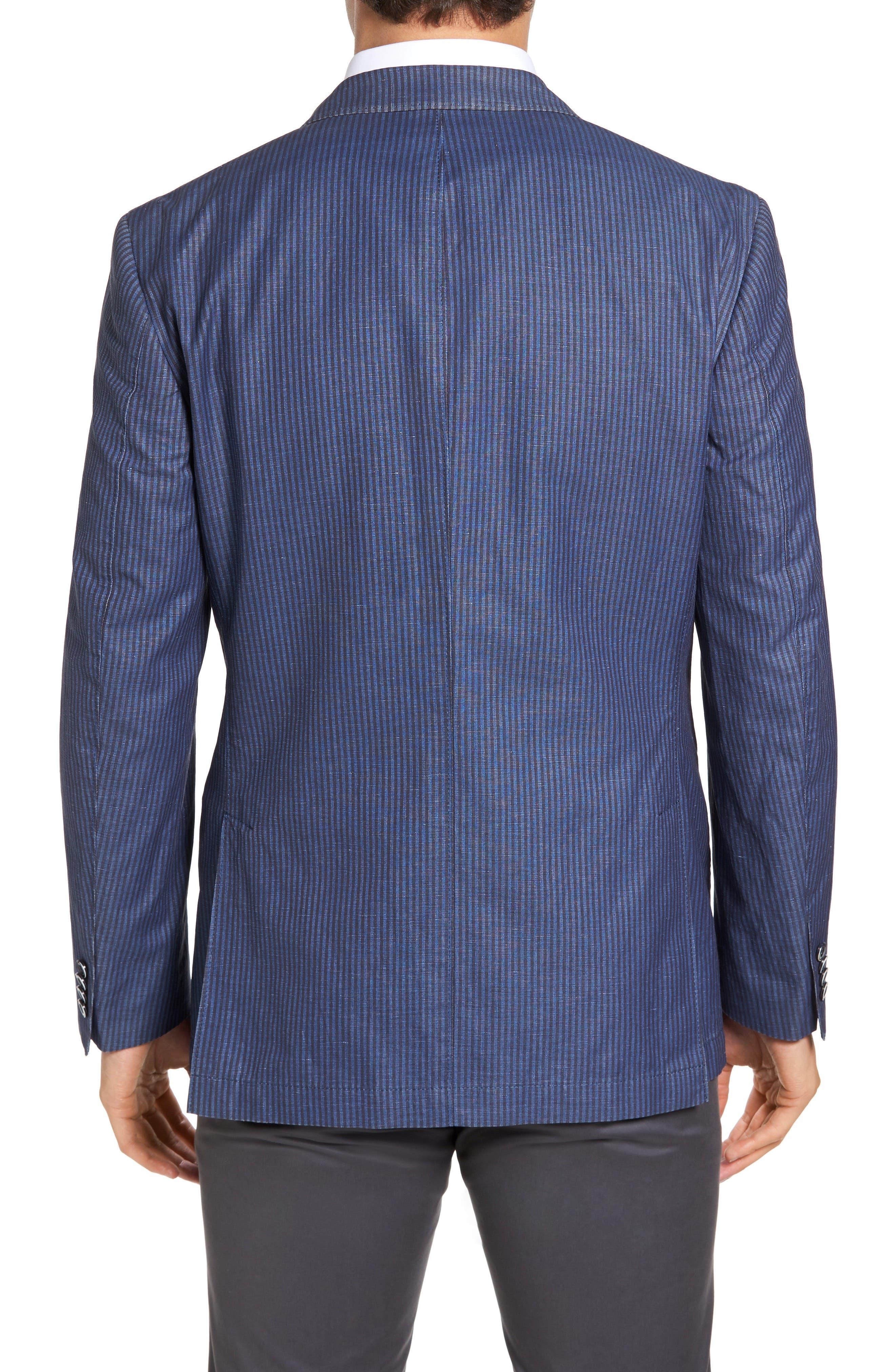 Alternate Image 2  - Kroon Bono 2 Classic Fit Stripe Cotton & Linen Sport Coat