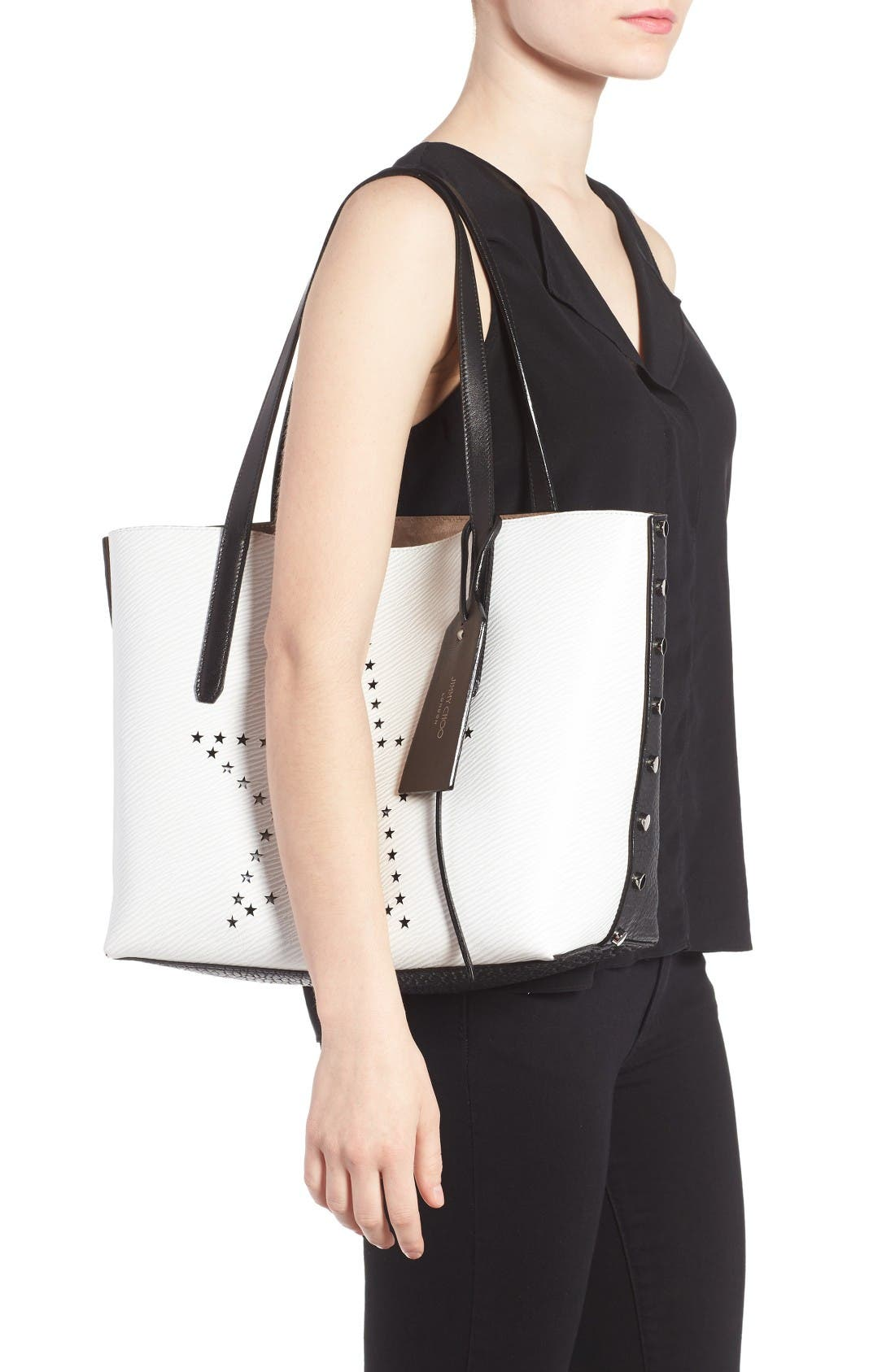 Alternate Image 2  - Jimmy Choo Star Studded Leather Tote