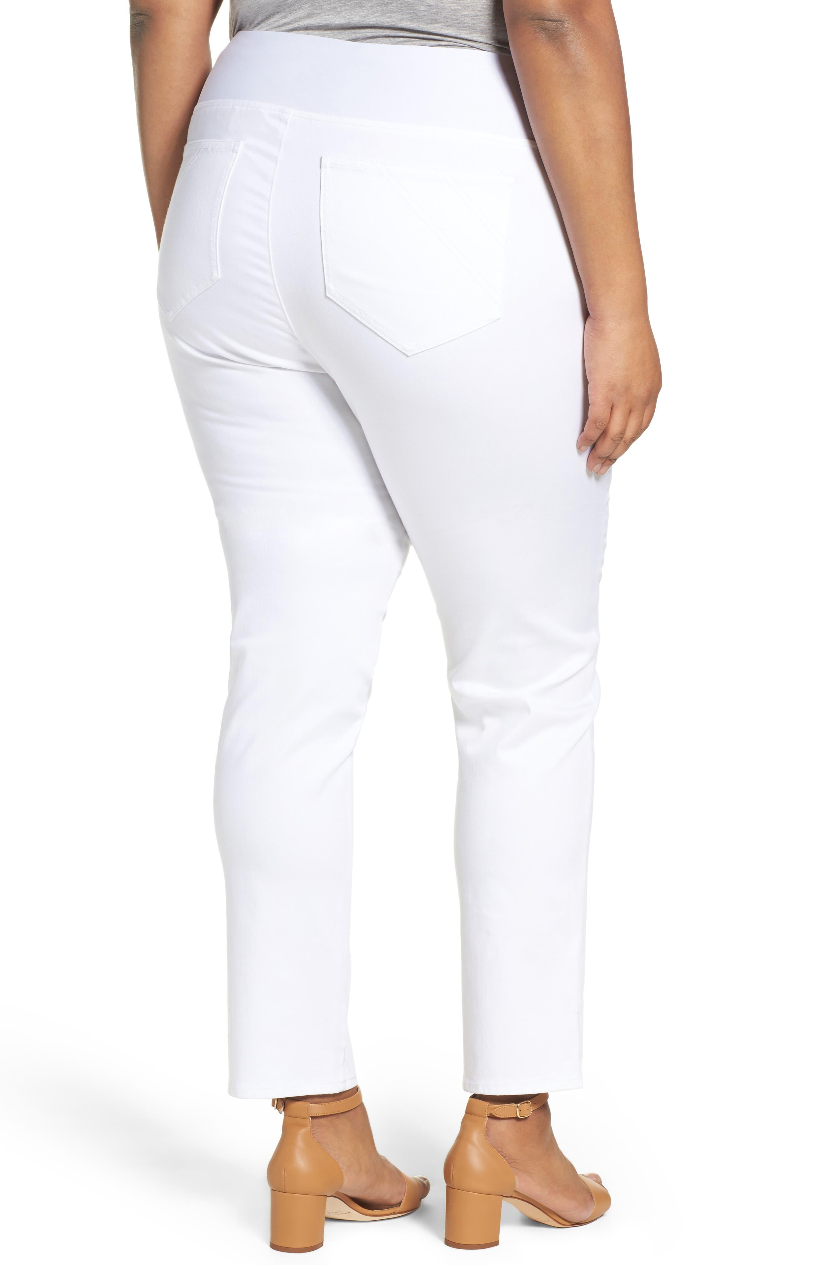 Alternate Image 2  - Foxcroft Nina Slimming Pull-On Legging Jeans (Plus Size)