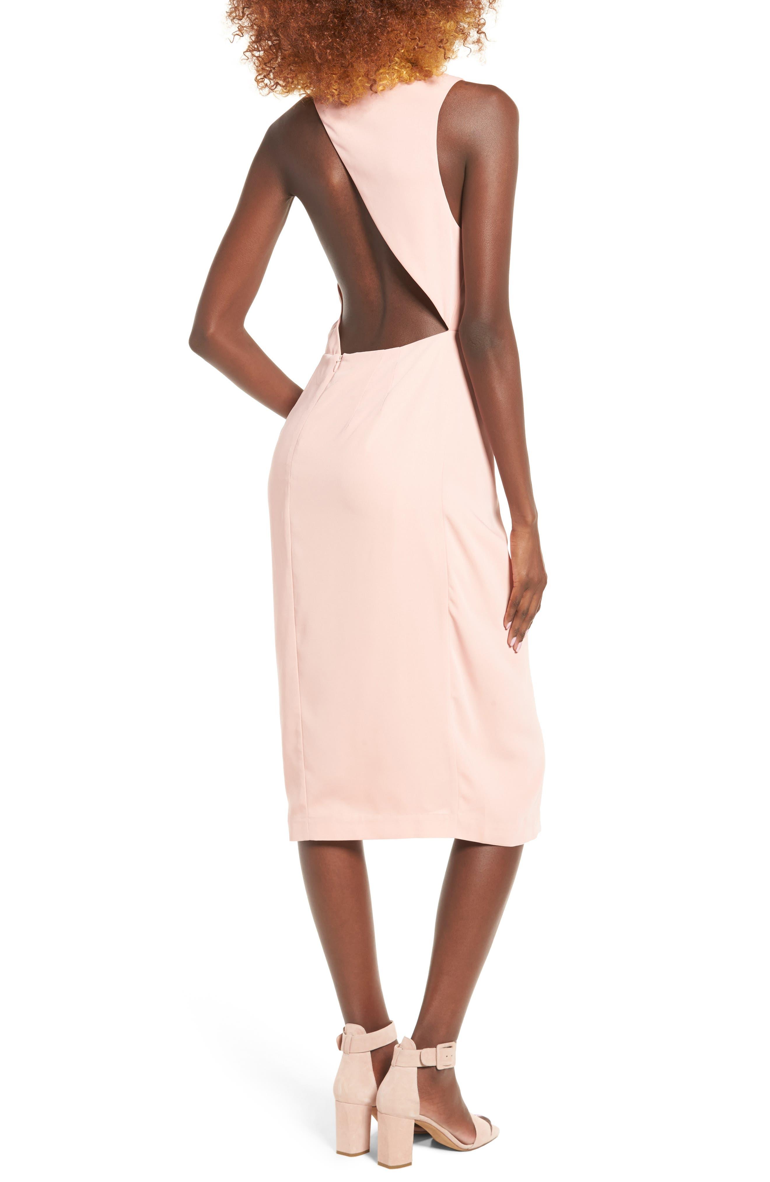 Alternate Image 3  - Keepsake the Label Without You Asymmetrical Midi Dress