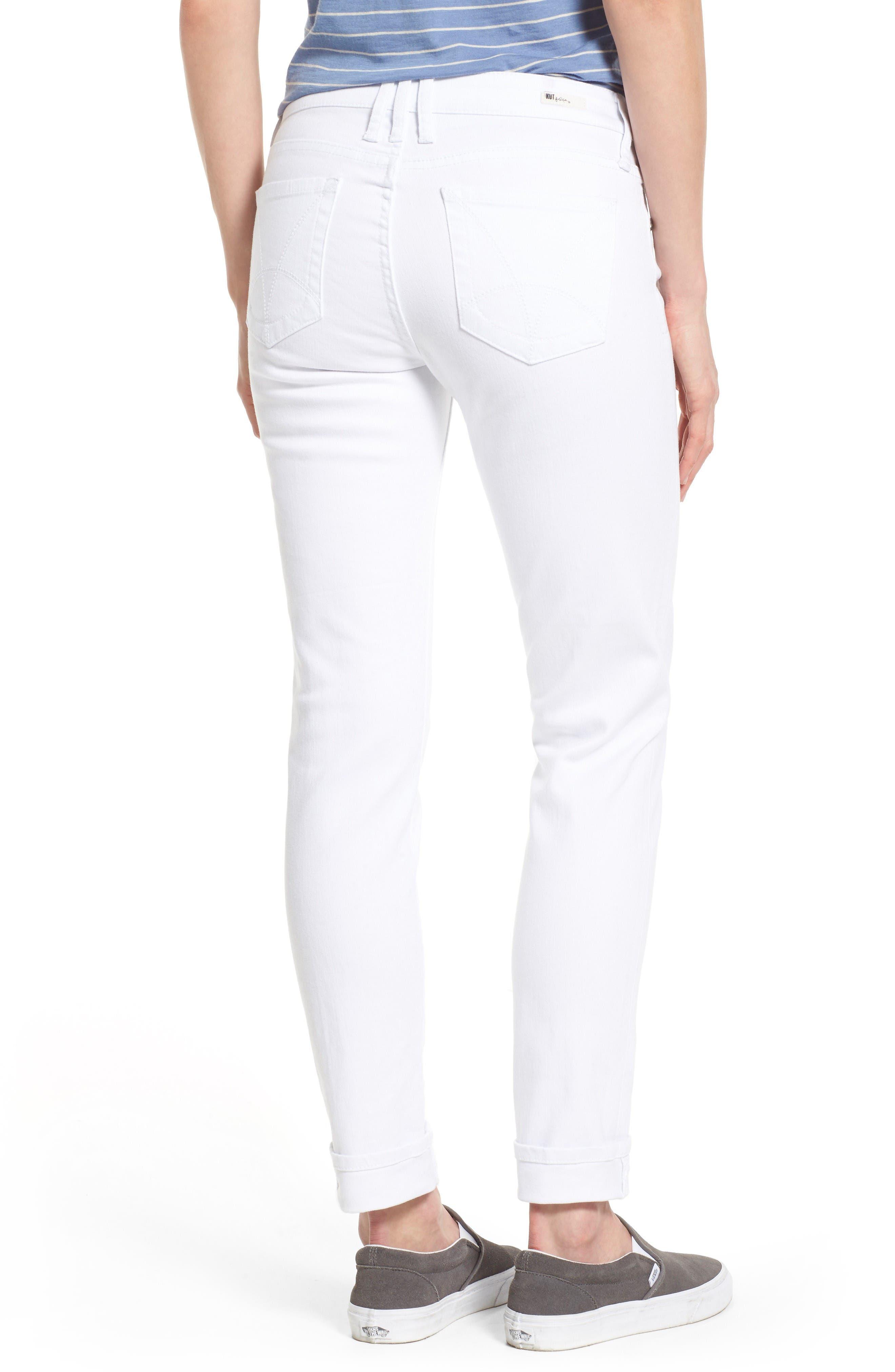 Catherine Stretch Boyfriend Jeans,                             Alternate thumbnail 3, color,                             White