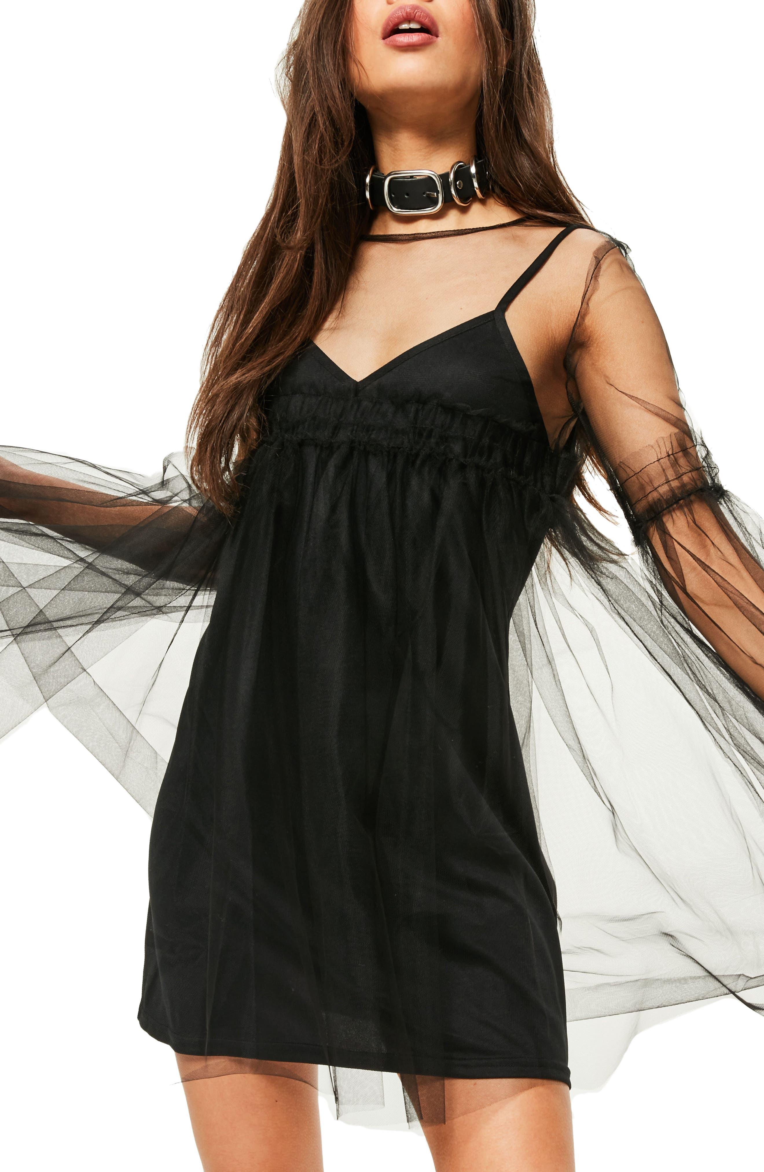 Alternate Image 4  - Missguided Tulle Mesh Minidress