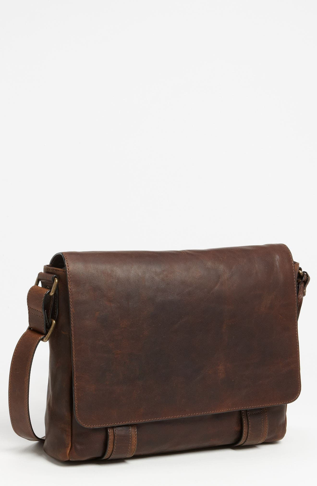 'Logan' Messenger Bag,                             Main thumbnail 1, color,                             Antique Dark Brown