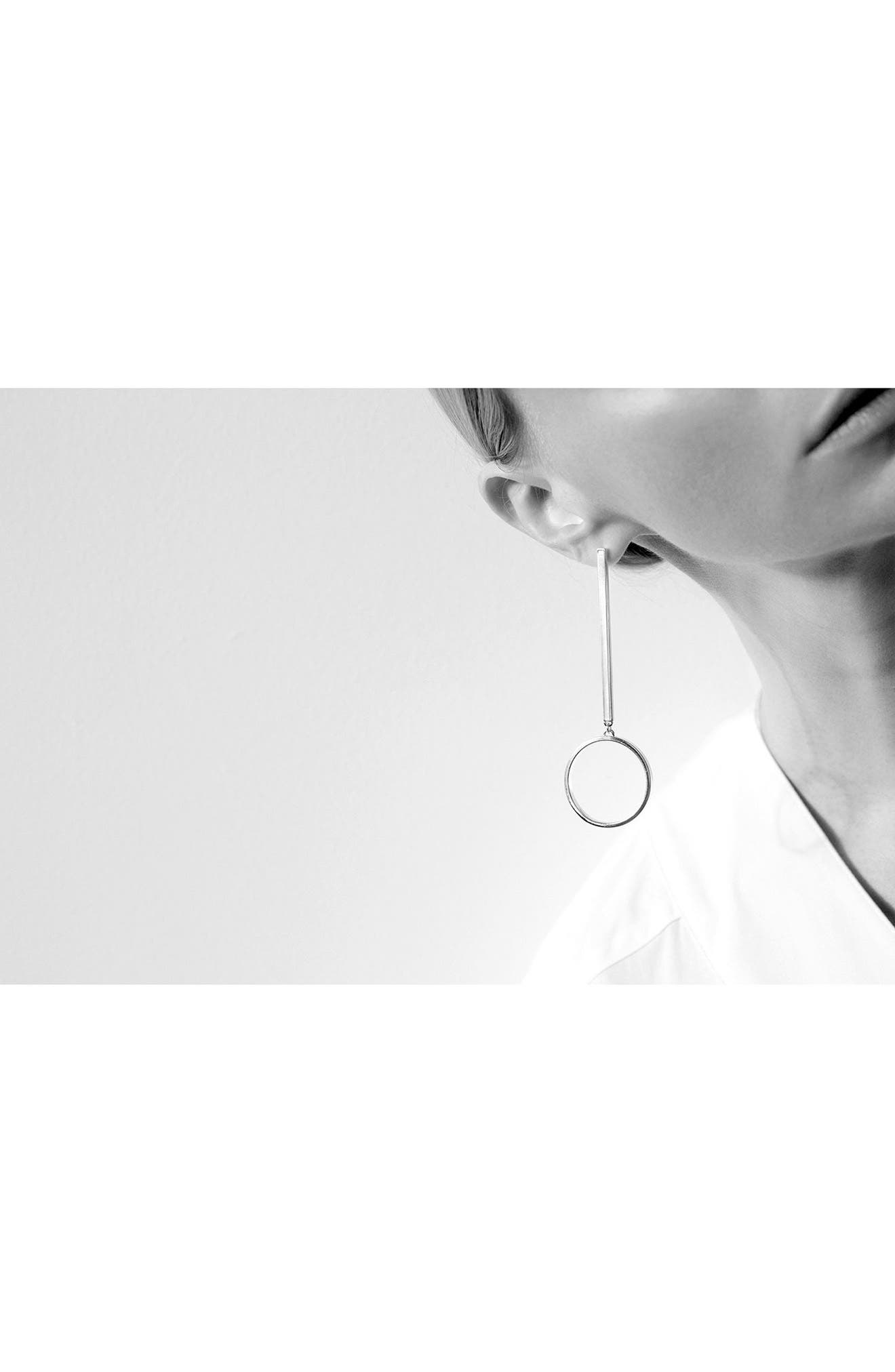 Edie Hoop Earrings,                             Alternate thumbnail 3, color,