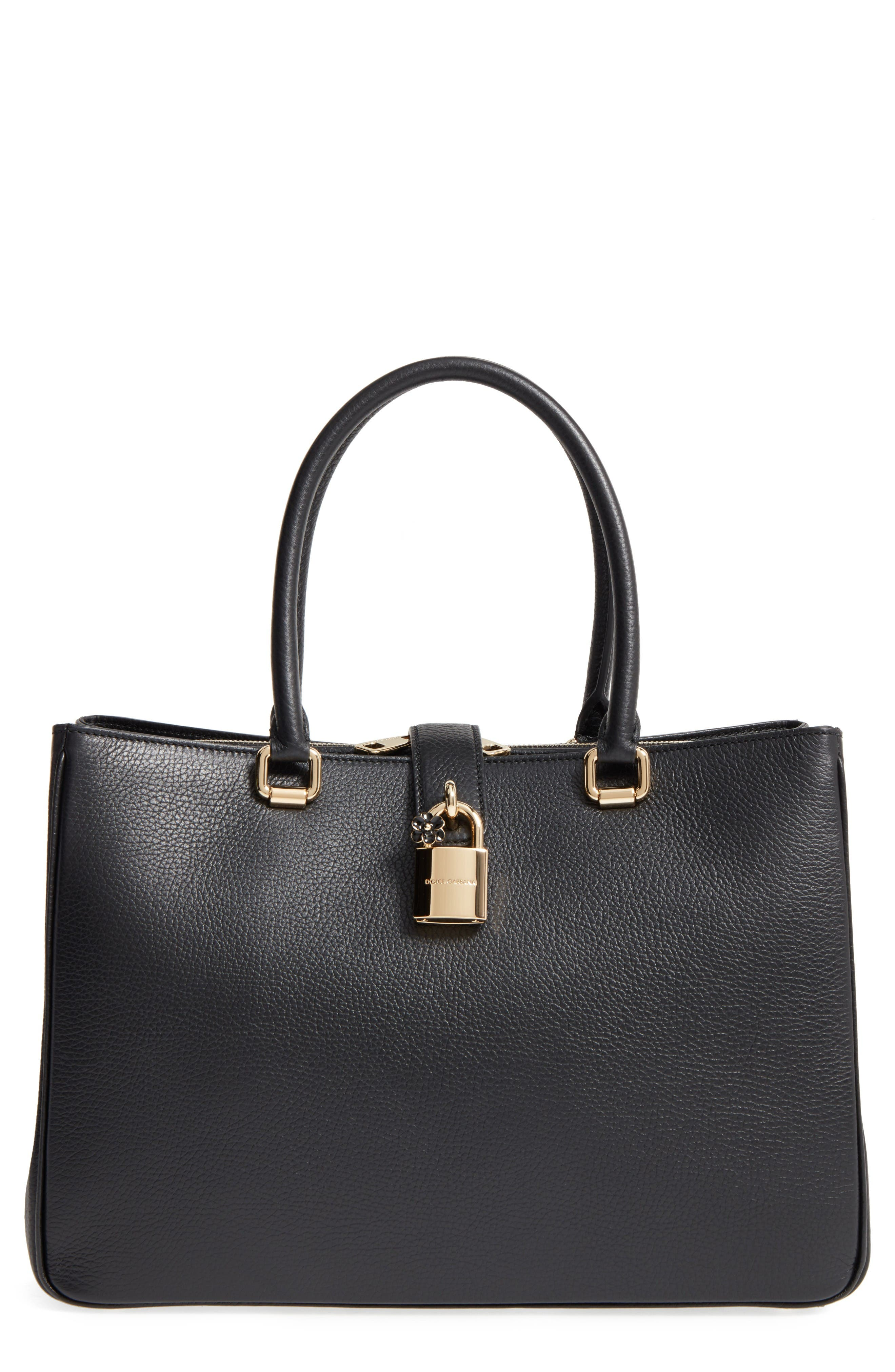 Alternate Image 1 Selected - Dolce&Gabbana Grained Leather Shopper